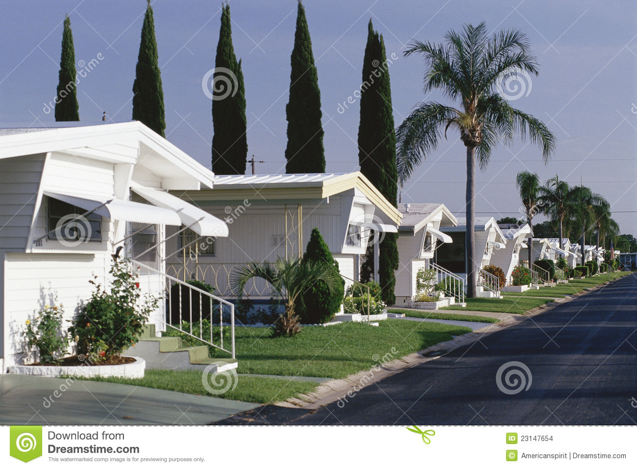 Mobile Home Park Stock Images