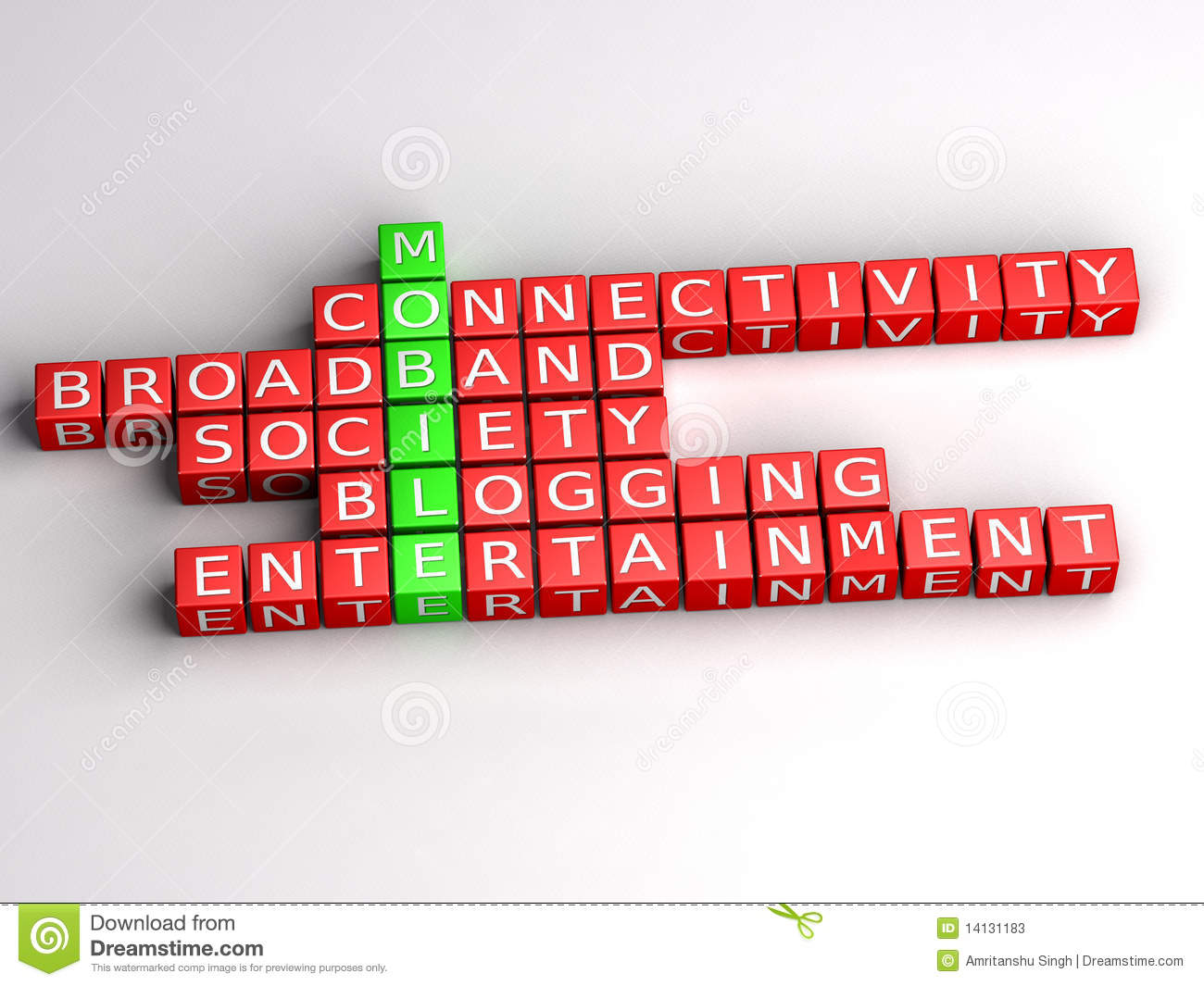 mobile internet communication puzzle stock illustration - image, Powerpoint templates