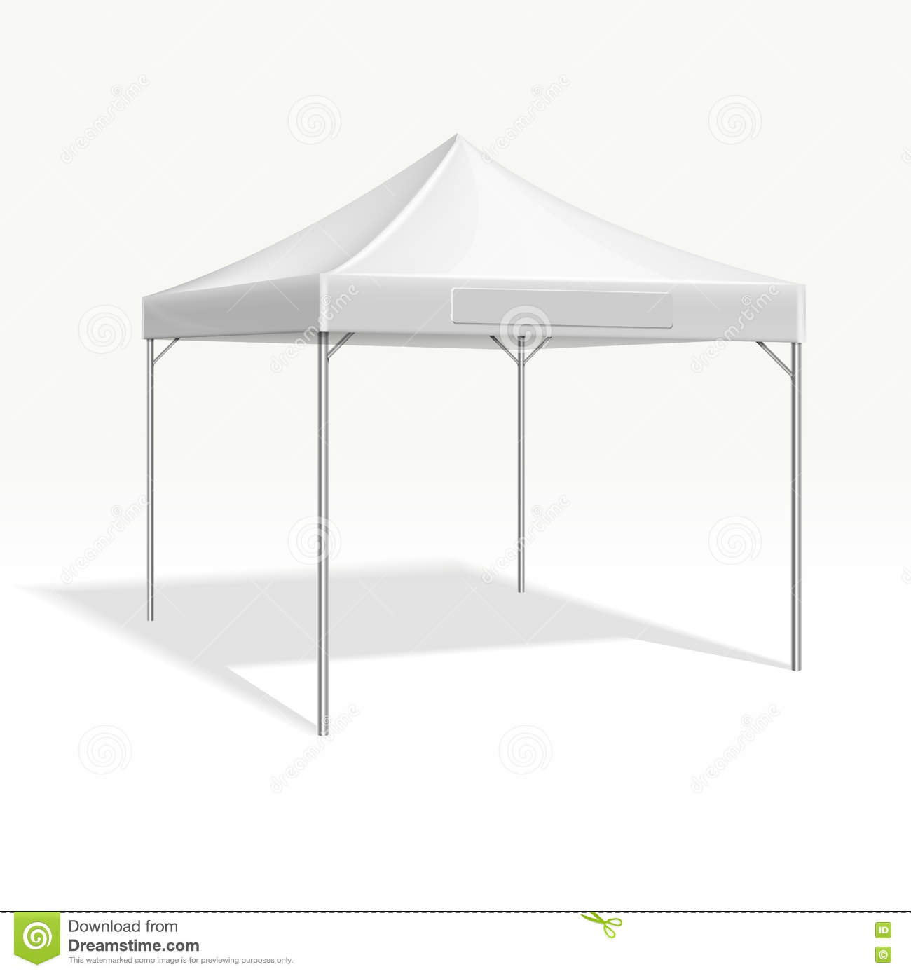 Mobile Marquee Tent For Trade Show Vector Mockup Stock