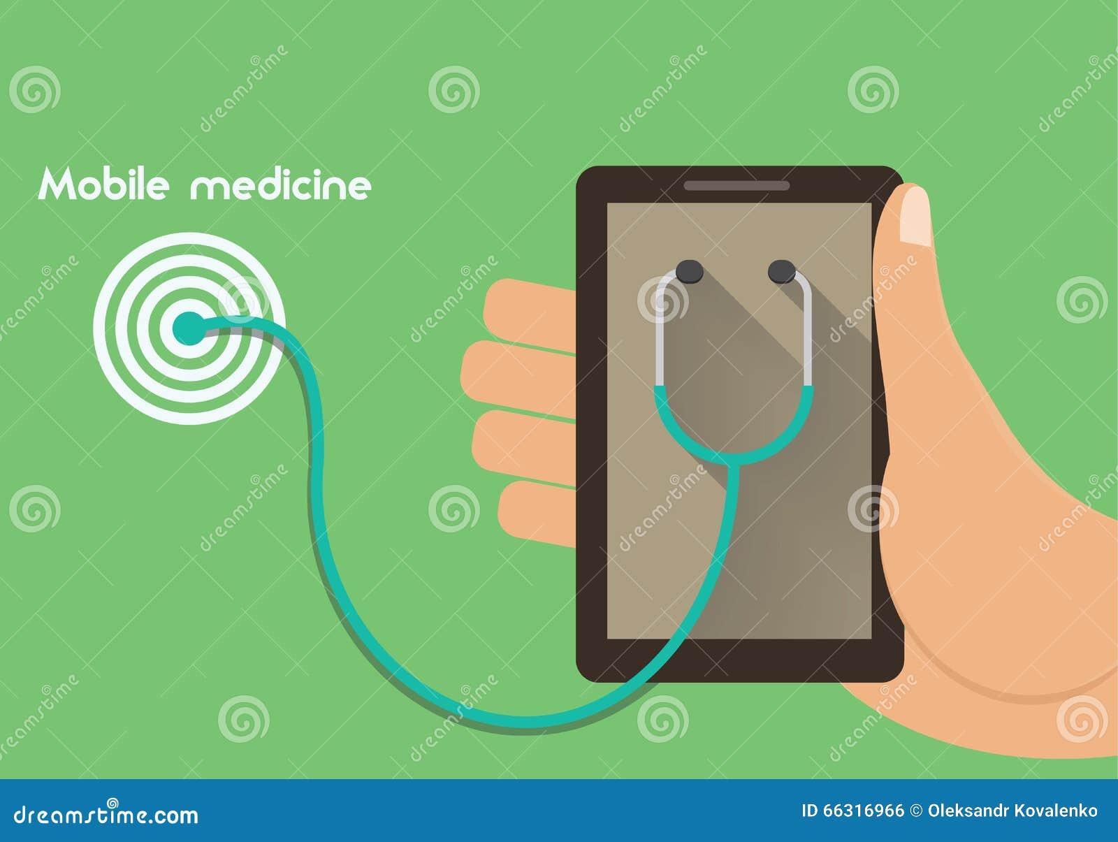 mobile medicine conceptual illustration remote medical supportmobile medicine conceptual illustration remote medical support concept