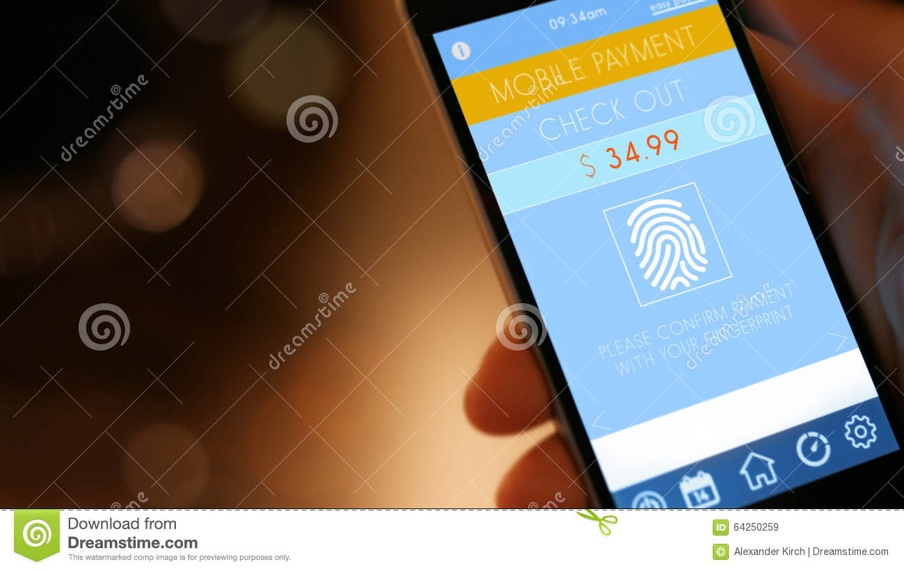 Mobile Payment With Smart Phone Stock Image - Image of finance