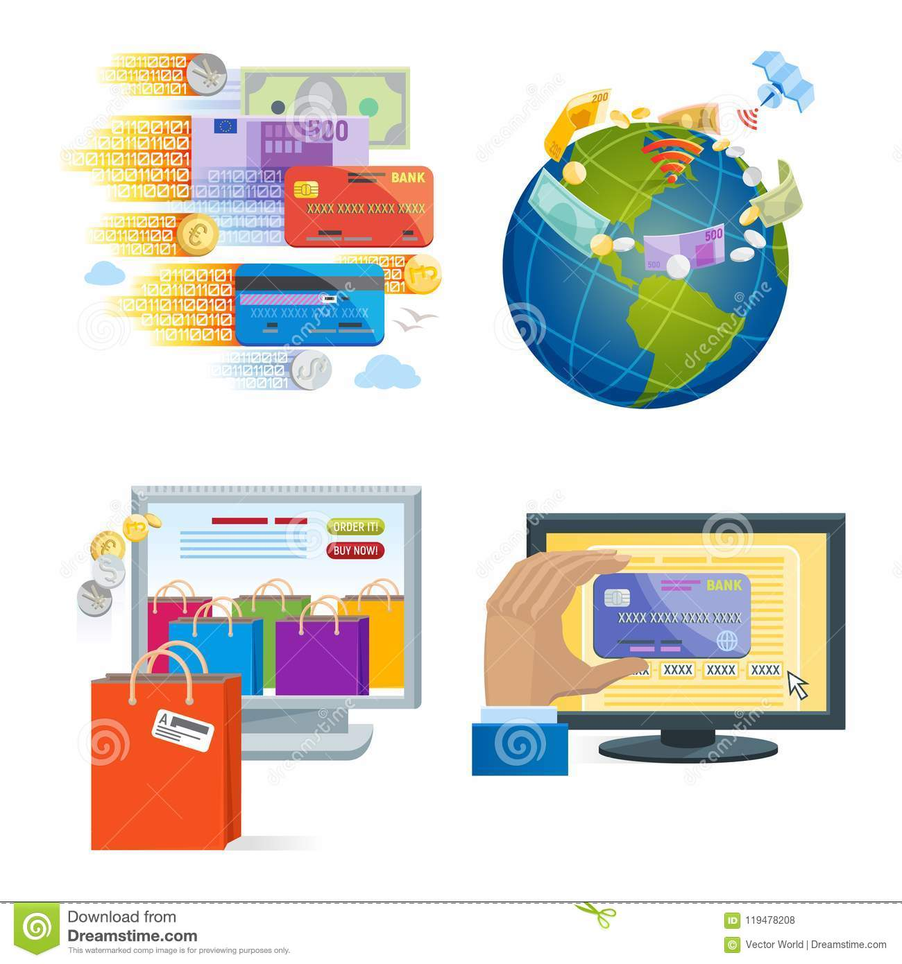 Mobile Payments Icons Vector Smartphone Transaction