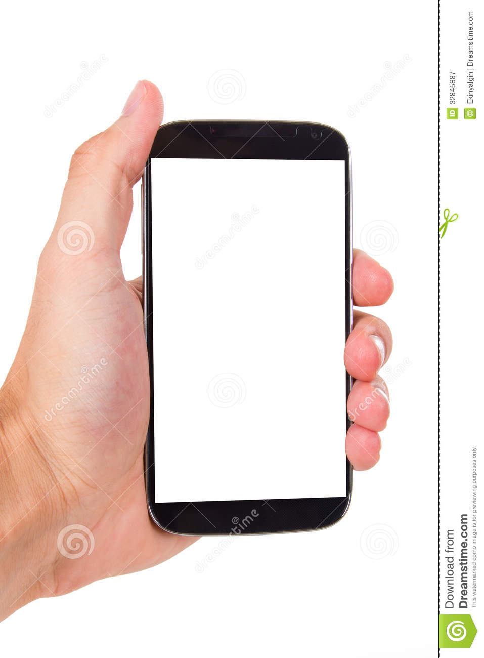 Mobile Phone With Blank Screen Royalty Free Stock Photography - Image ...