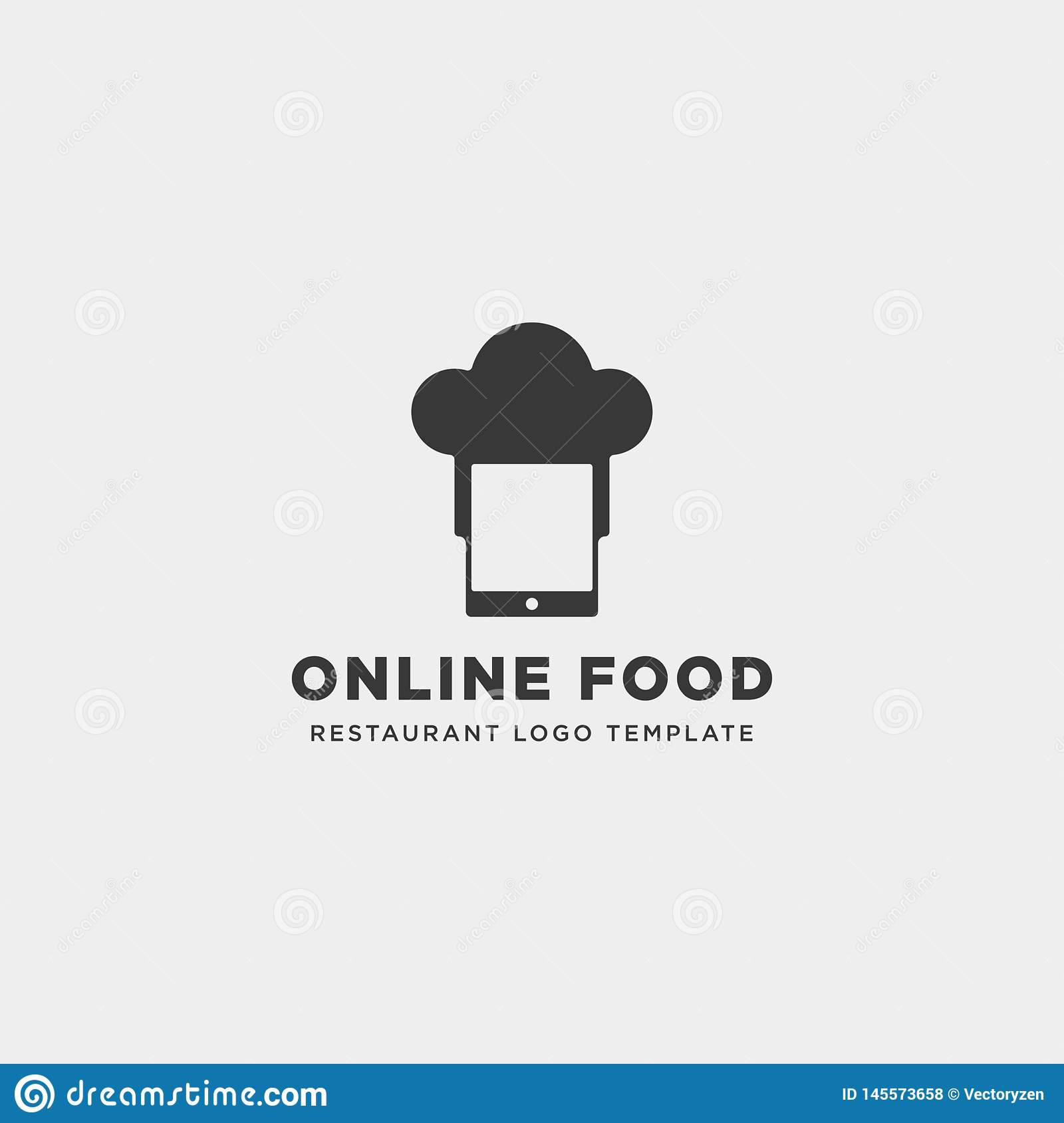 Mobile Phone Chef Restaurant Technology Simple Flat Logo