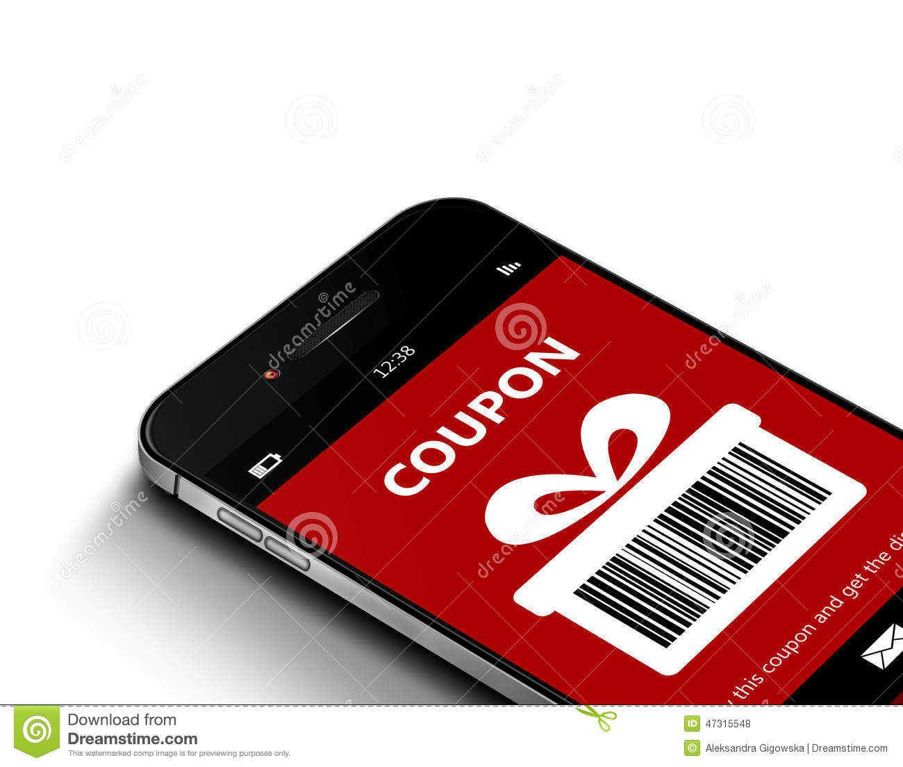 Discount coupons on mobile phones