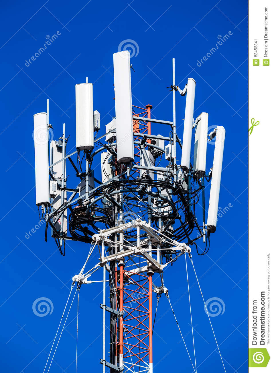 Mobile Phone Communication Repeater Antenna  Stock Image - Image of