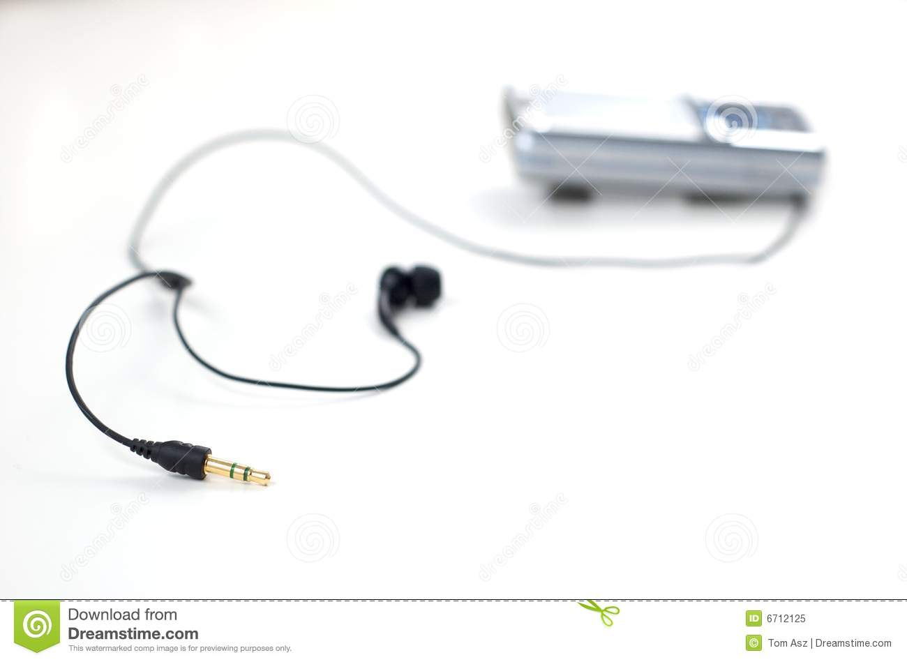 Download Mobile Phone With Earphones Stock Image - Image of close, phone: 6712125