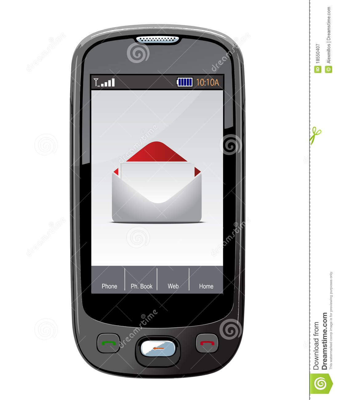 Mobile Phone With Email Royalty Free Stock Photography ...