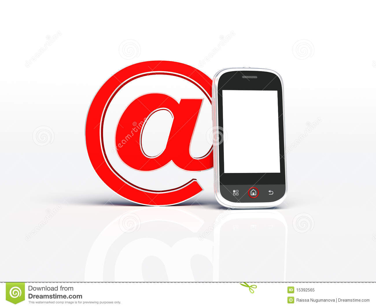 Mobile Phone And Email Sign Stock Illustration