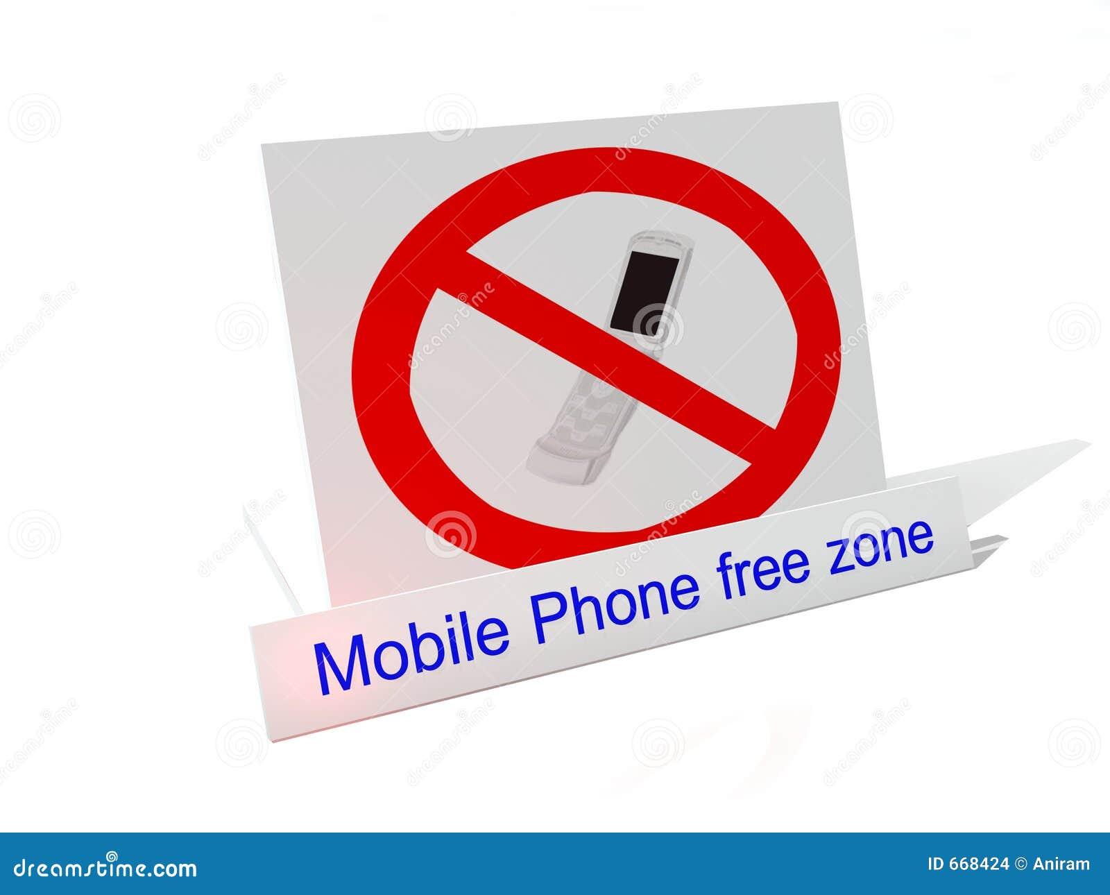 mobile phone free zone stock images image 668424. Black Bedroom Furniture Sets. Home Design Ideas