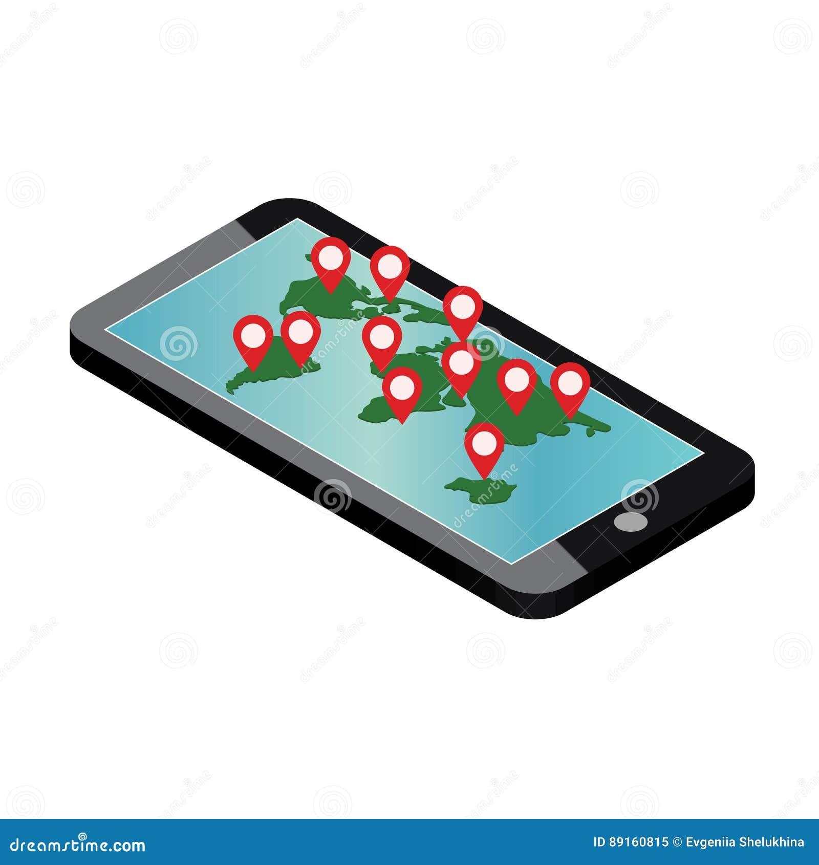 Mobile phone geo location smartphone gps navigator stock vector mobile phone geo location smartphone gps navigator publicscrutiny Choice Image