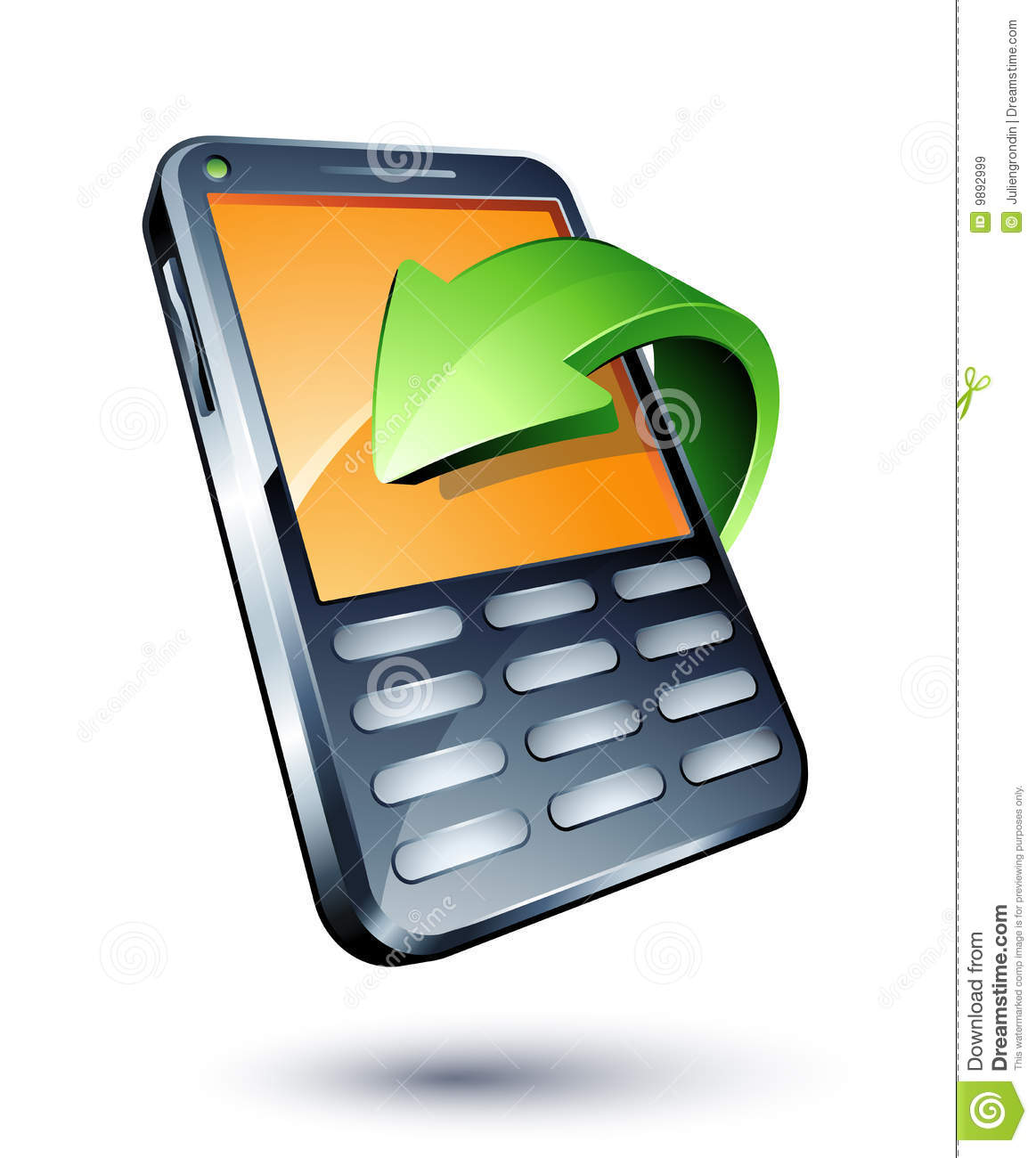 mobile phone and green arrow stock vector illustration Conference Call Meeting conference call clipart free