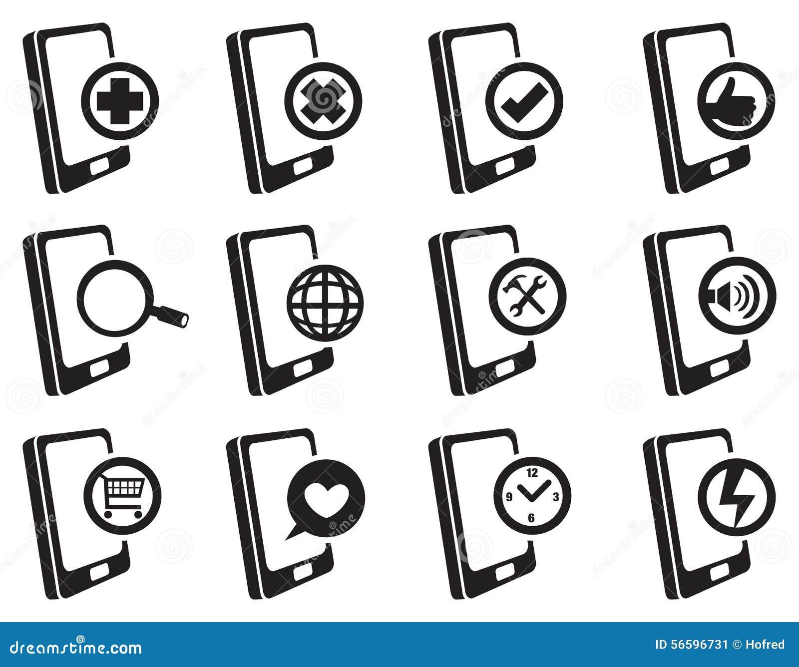 Mobile phone internet vector icon set stock vector image 56596731 mobile phone internet vector icon set biocorpaavc
