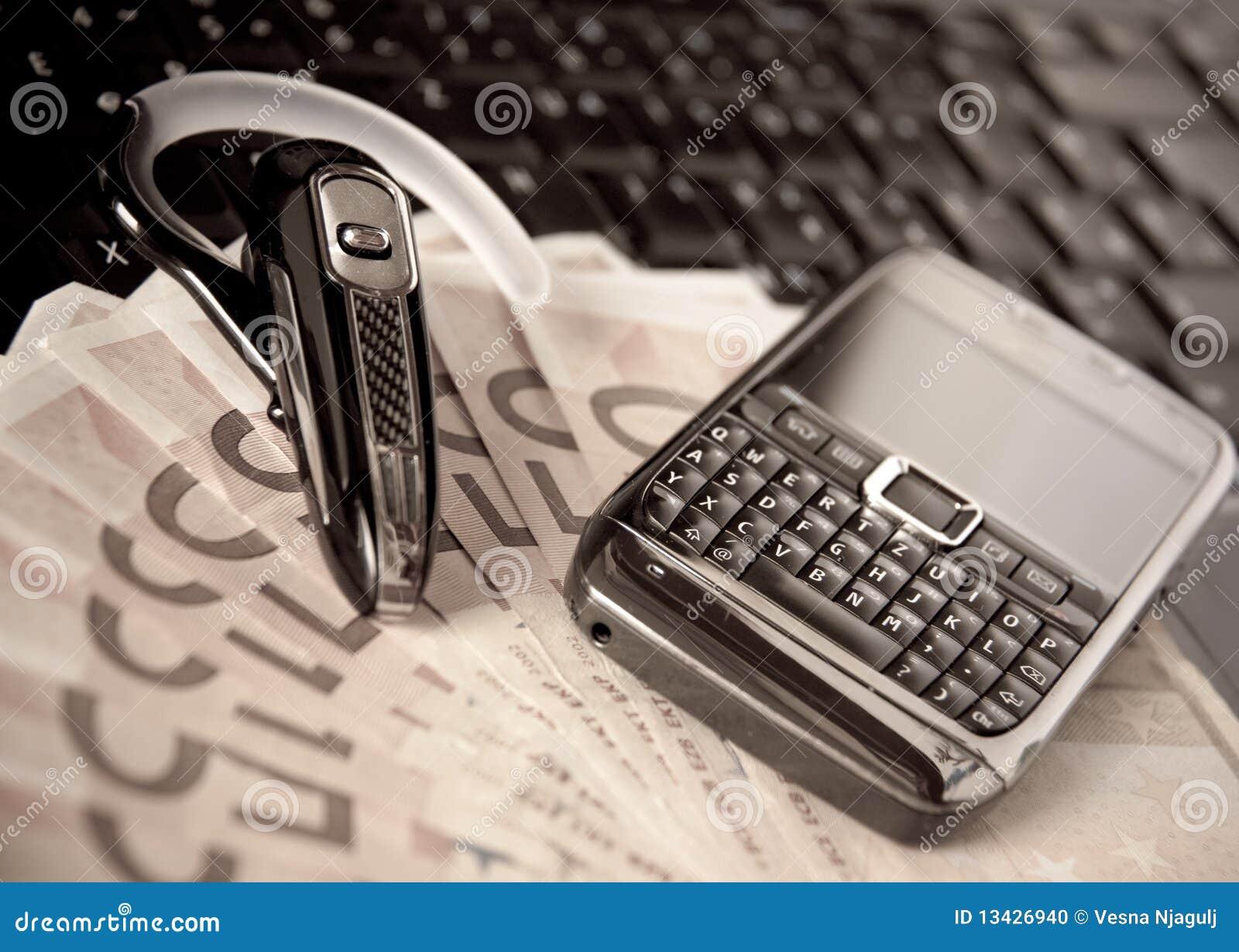 Cash Euro Money On The Keyboard Stock Image ...