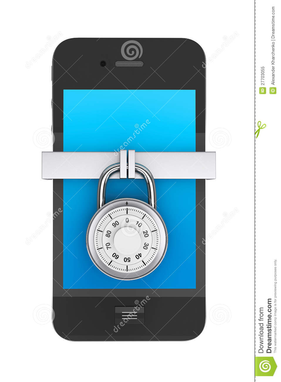 Mobile phone with lock royalty free stock photo image for Mobel lossek