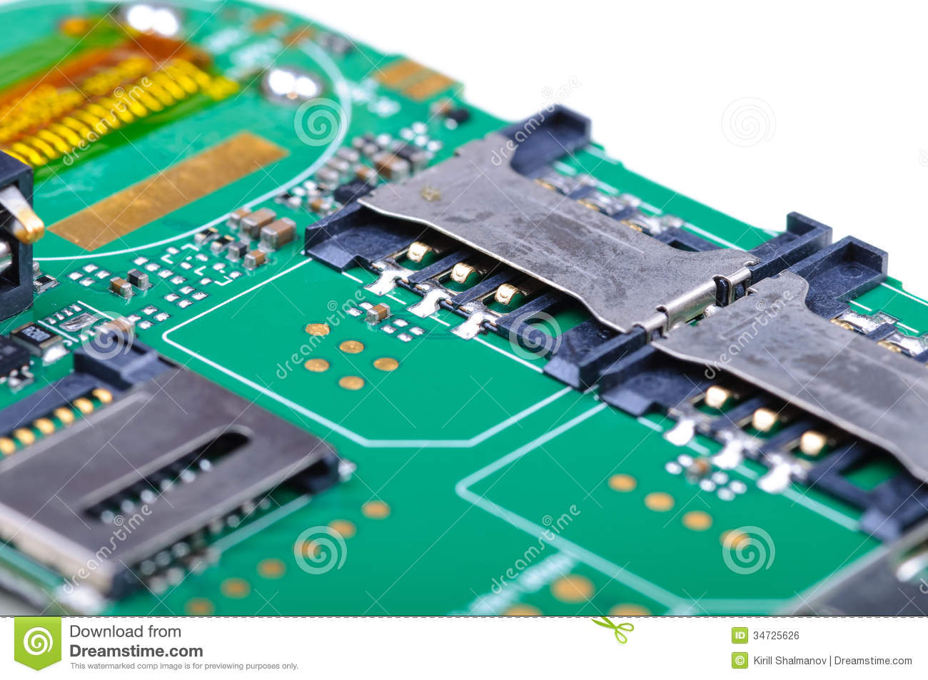 Mobile phone main board stock photo. Image of mobile - 34725626