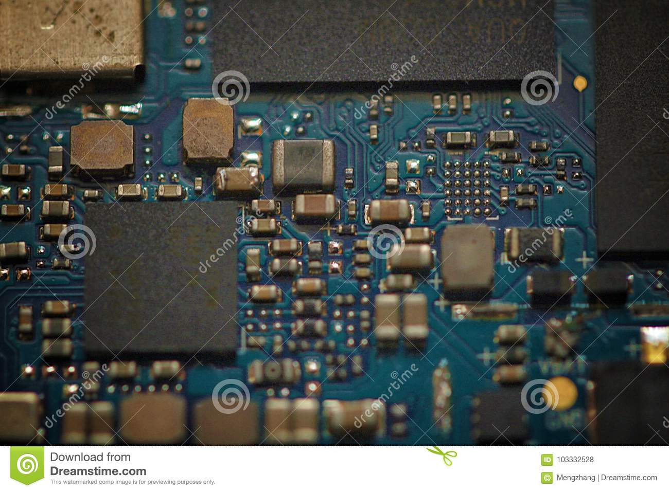 Mobile phone main board stock photo. Image of connection - 103332528