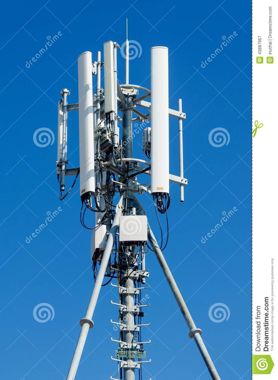 Mobile Phone Network Antenna Stock Image - Image of operator, site