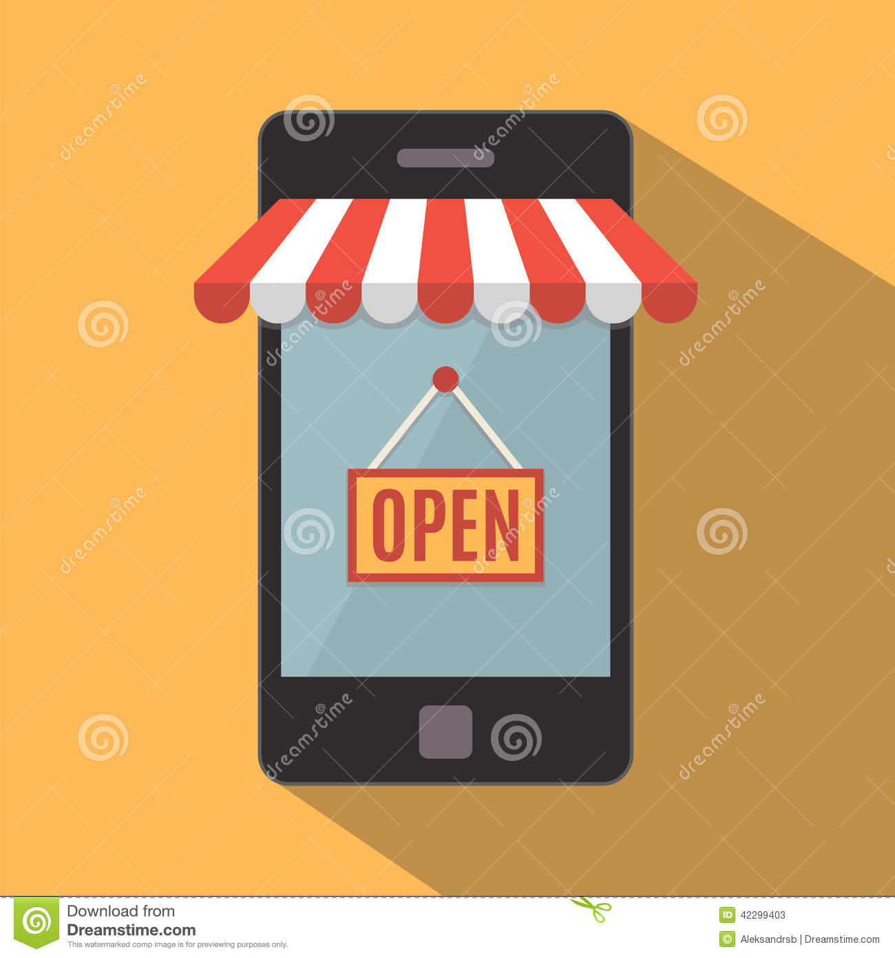 Mobile phone online store concept stock vector image for Shop mobili online