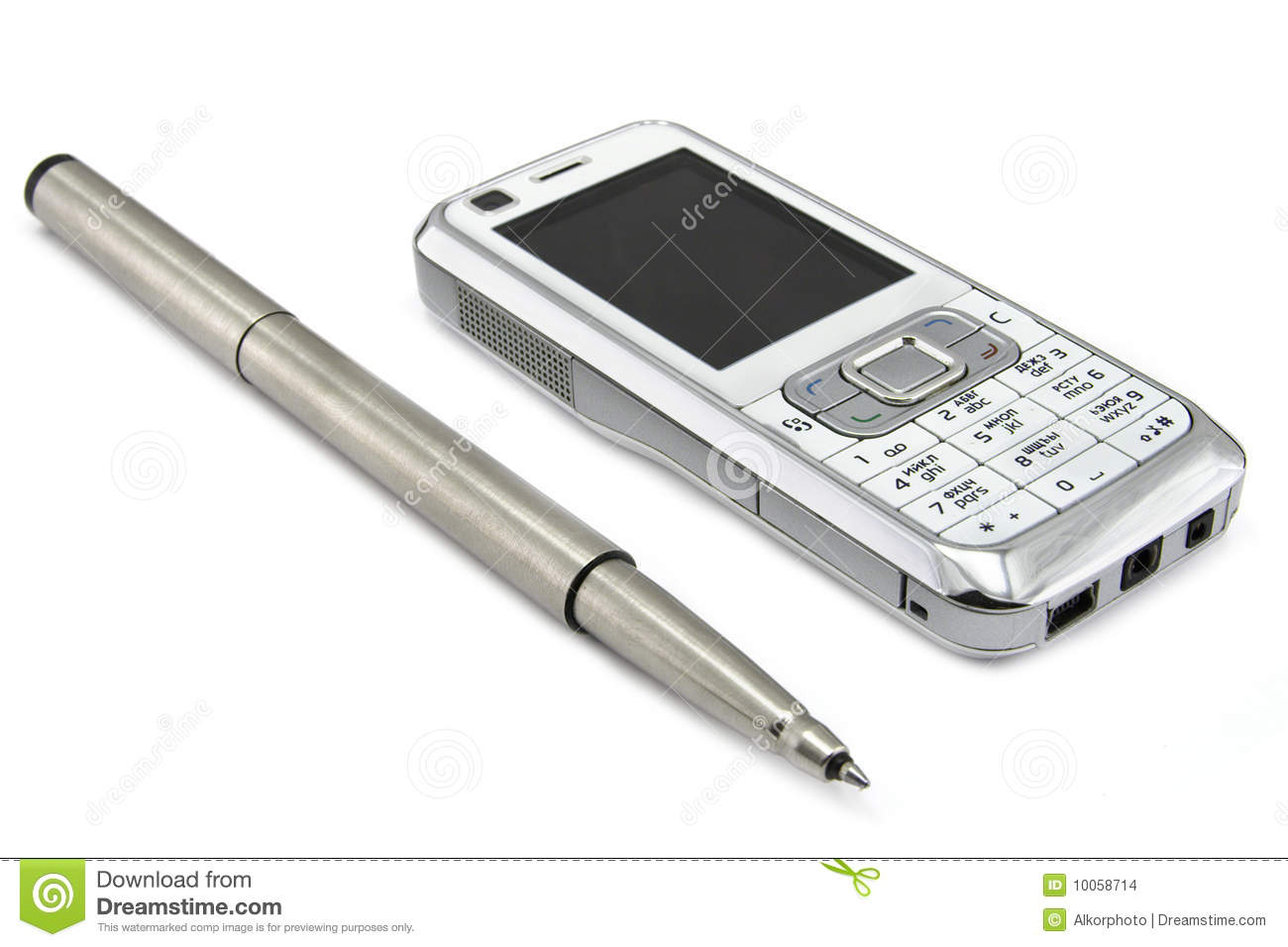 Mobile Phone And Pen Stock Images Image 10058714
