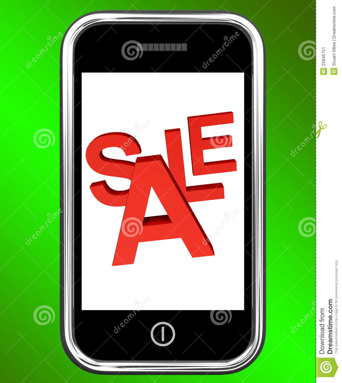 mobile phone sale screen shows online discounts stock