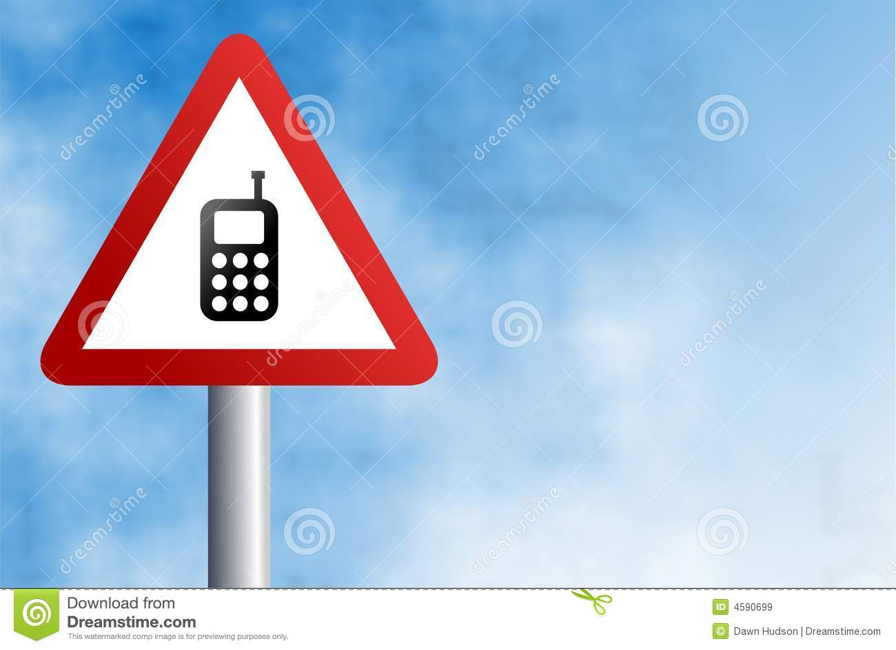 Mobile phone sign