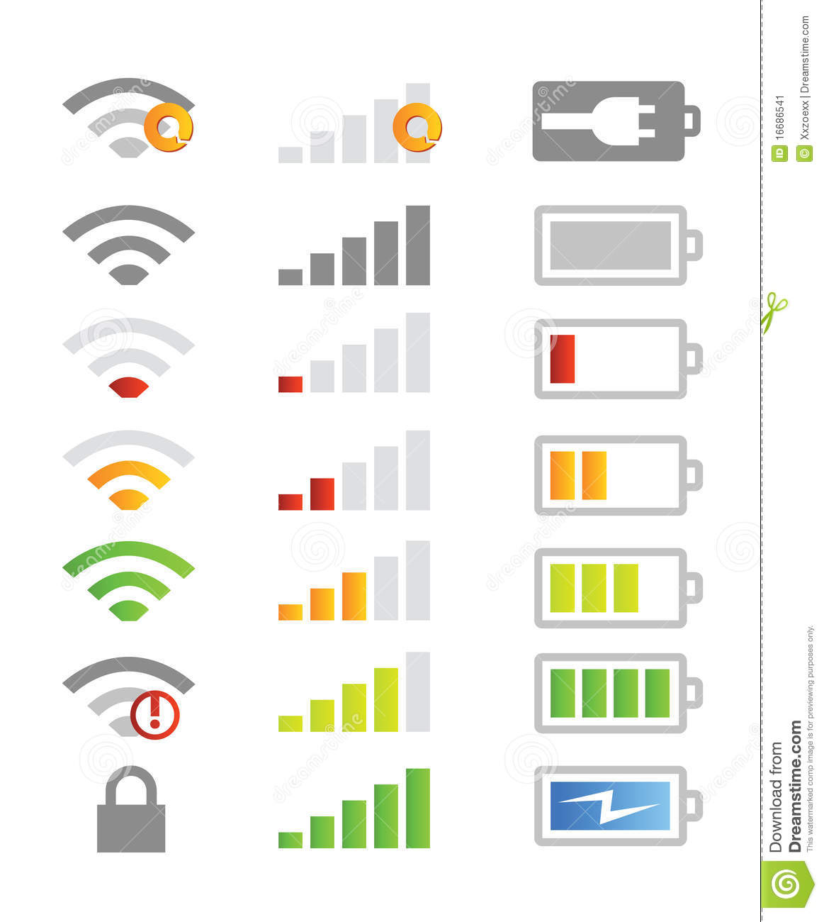 Mobile Phone System Icons Stock Image Image 16686541