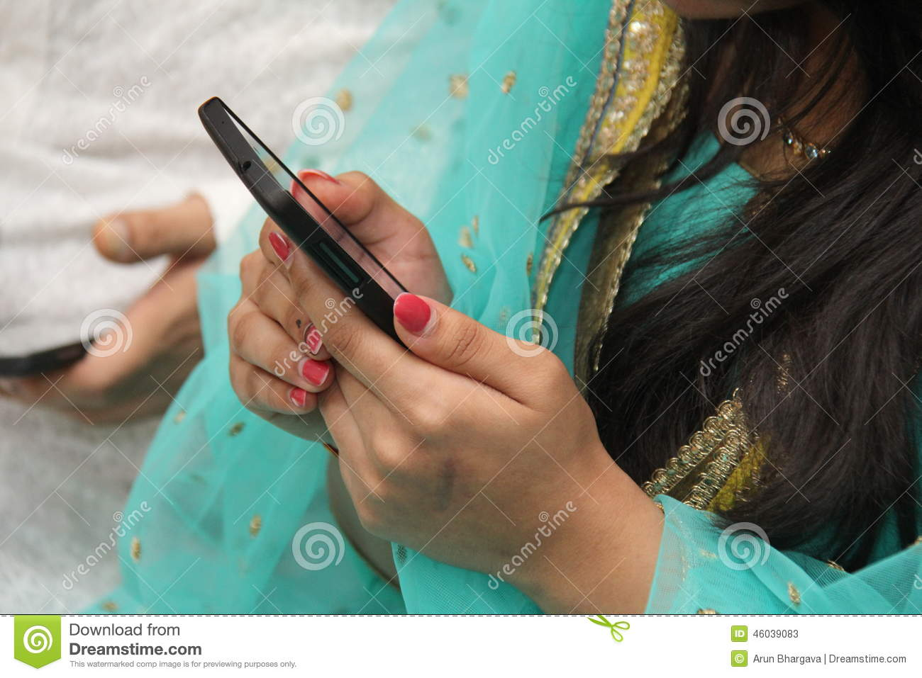 Mobile Phone In Teenager Girl\'s Hand Stock Image - Image of hand ...