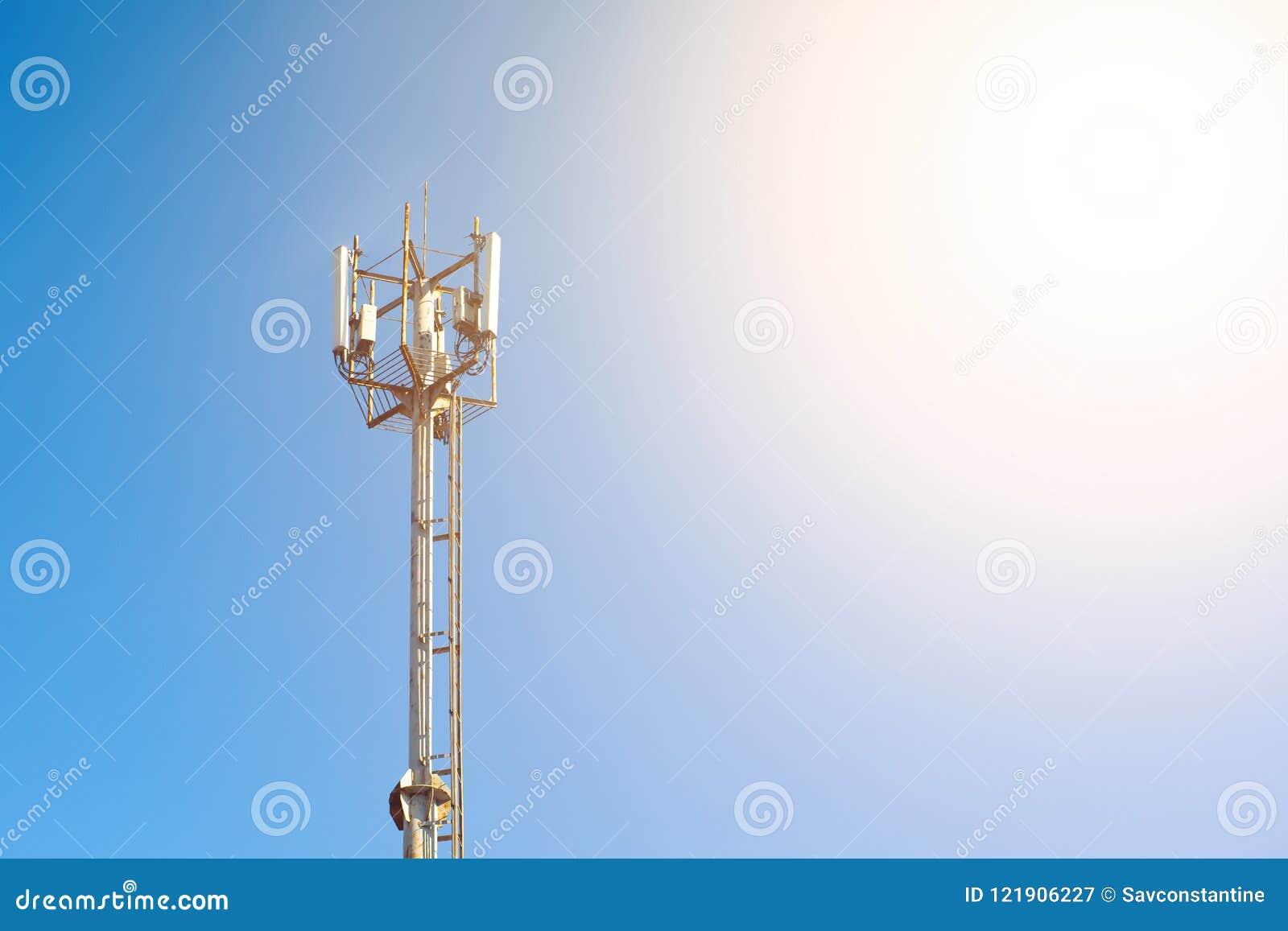 Tower stock image  Image of communicate, equipment, landscape