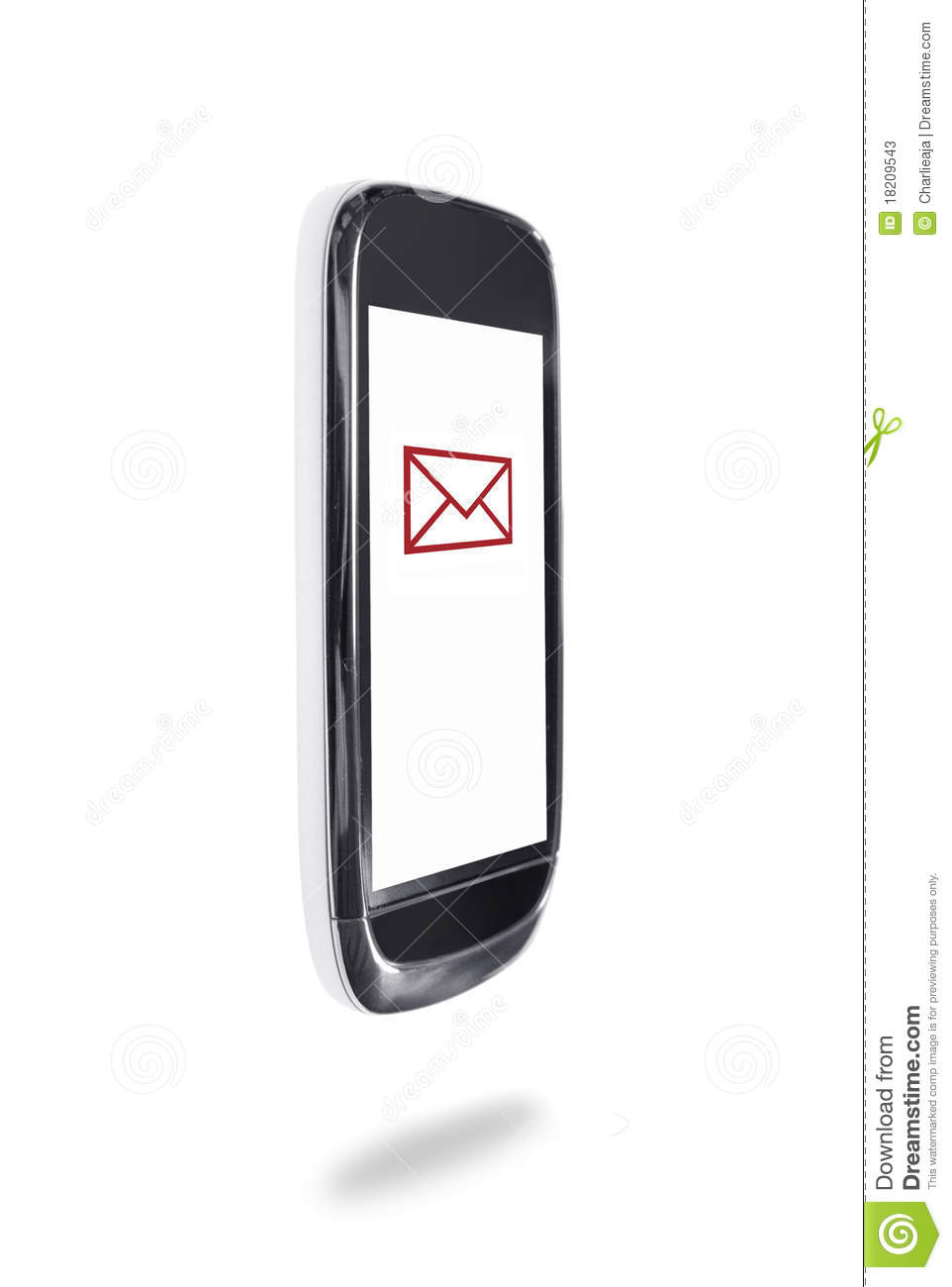 Mobile Phone Text Symbol Stock Image Image Of Envelope 18209543