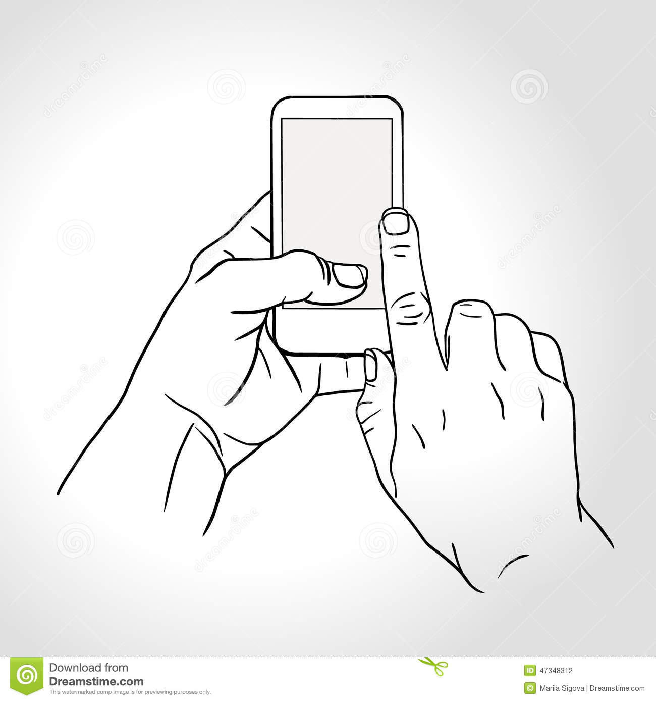 Download Mobile Phone Touch Gestures -- Touch The Screen Stock Vector - Illustration of electronic, smart: 47348312