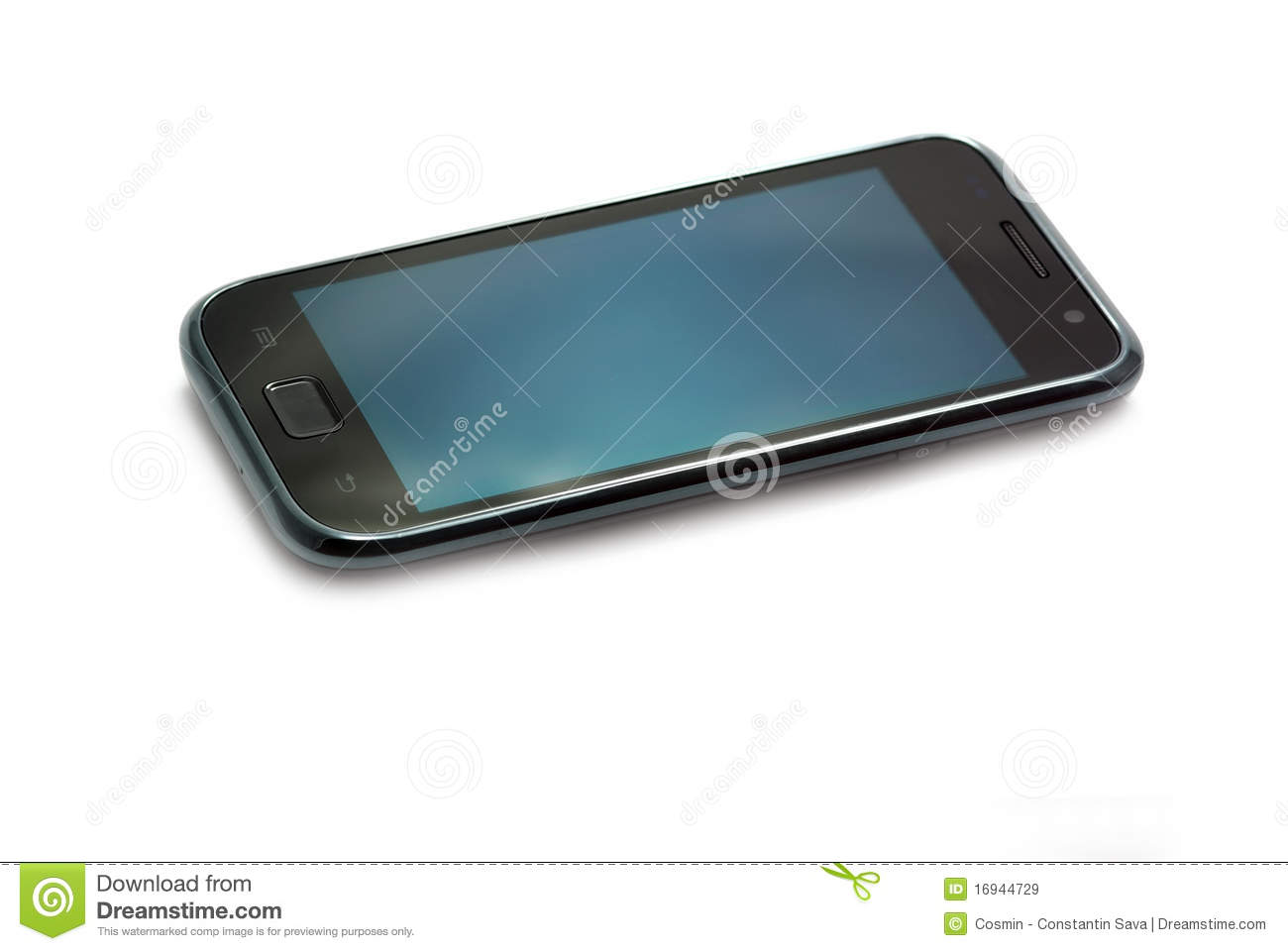 Mobile phone with touch screen