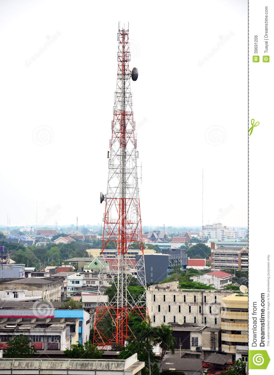 Mobile Phone Tower Or Cell Phone Tower Stock Photo - Image