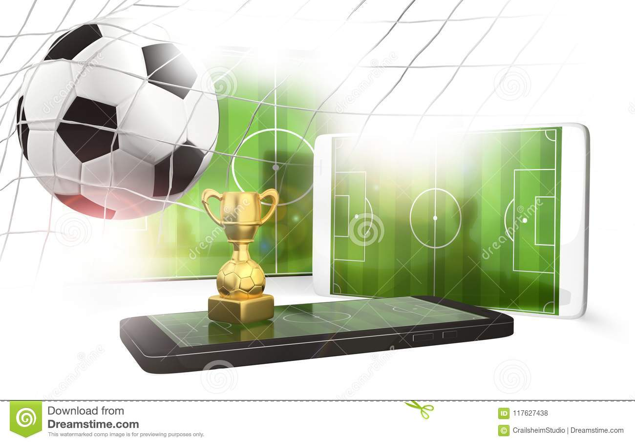 Mobile Phone TV Tablet Computer Soccer Field Display Screen