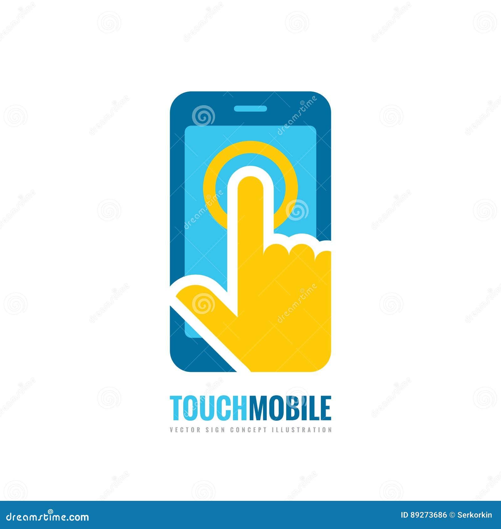 Mobile Phone Vector Logo Template Concept Illustration Smartphone