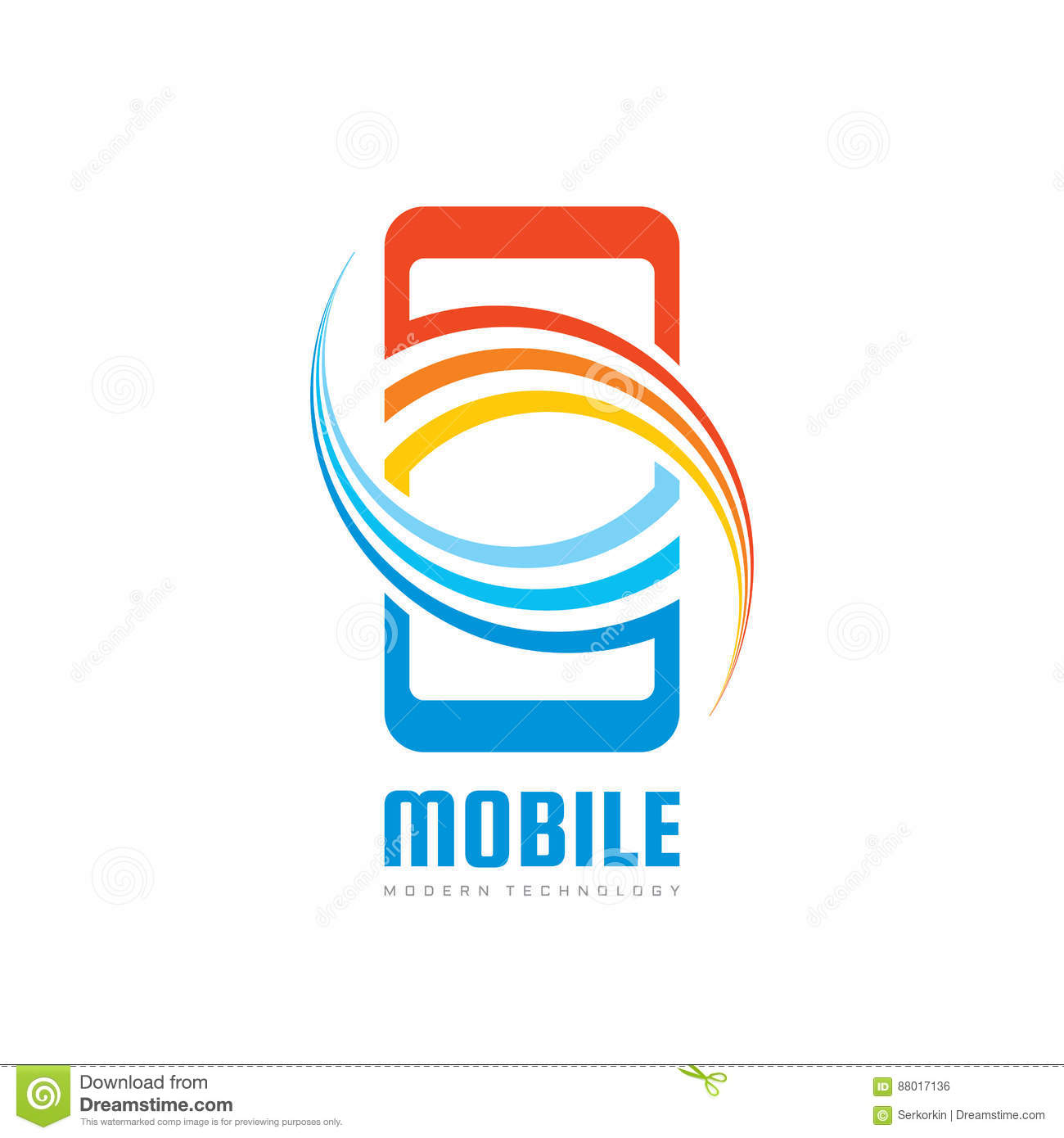 Mobile Phone Vector Logo Template Concept Illustration Smartphone