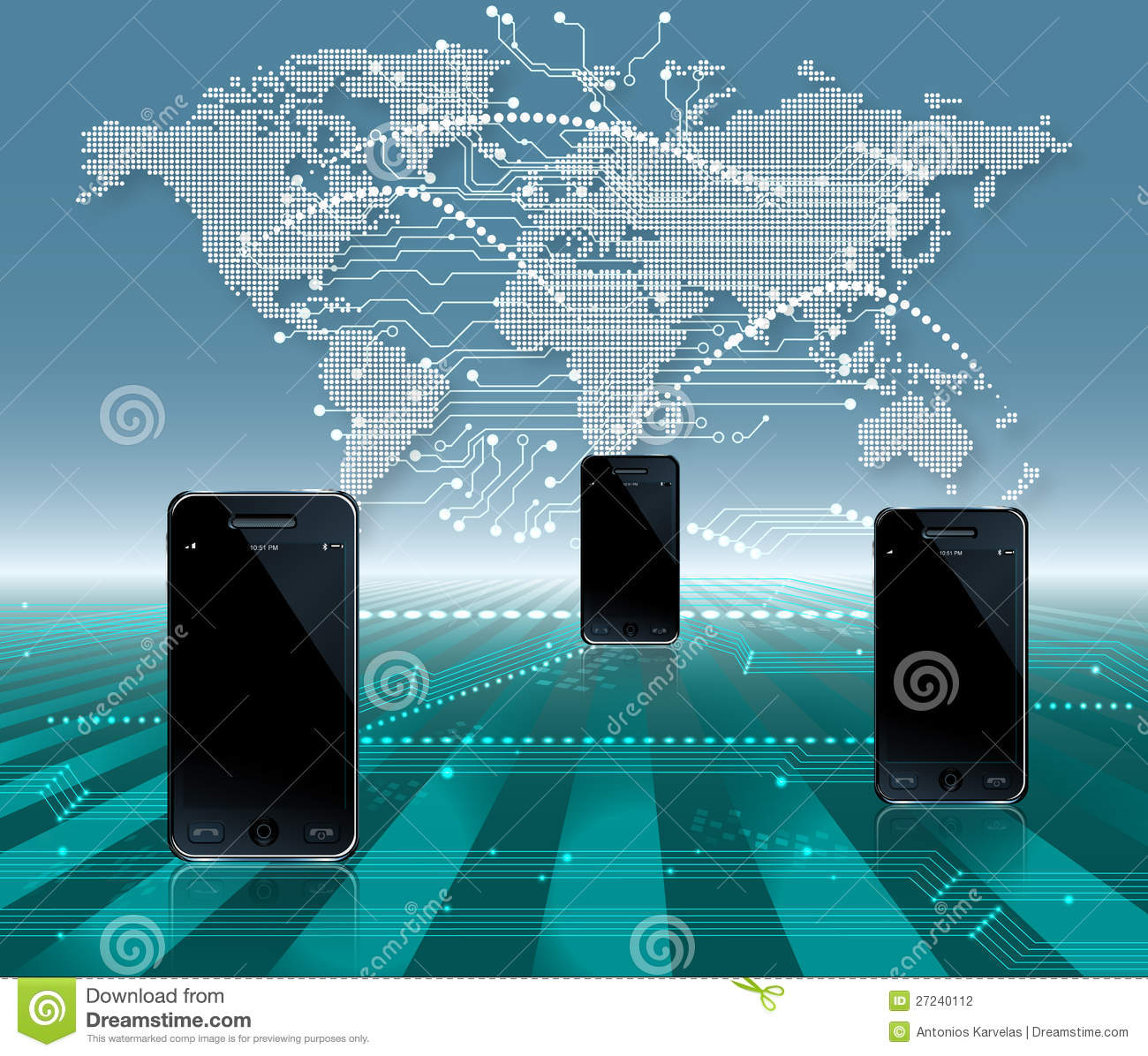 Mobile Phone World Communication Stock Photography - Image: 27240112