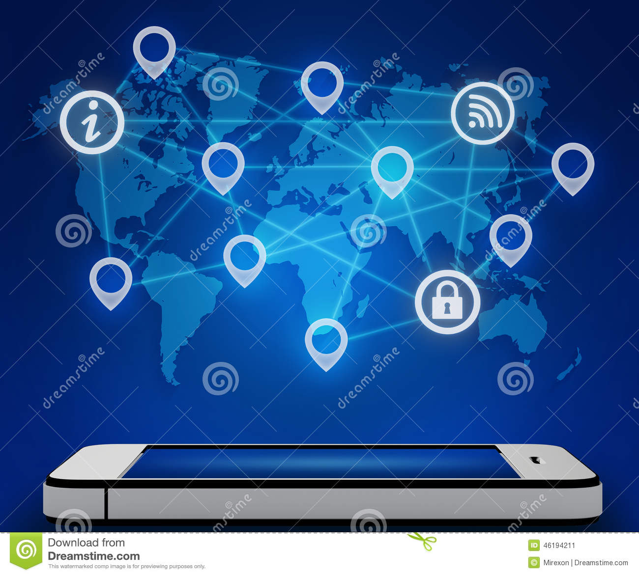 Mobile phone and a world map with connection icon stock illustration royalty free illustration download mobile phone and a world map with connection icon stock illustration illustration of mobile publicscrutiny Choice Image
