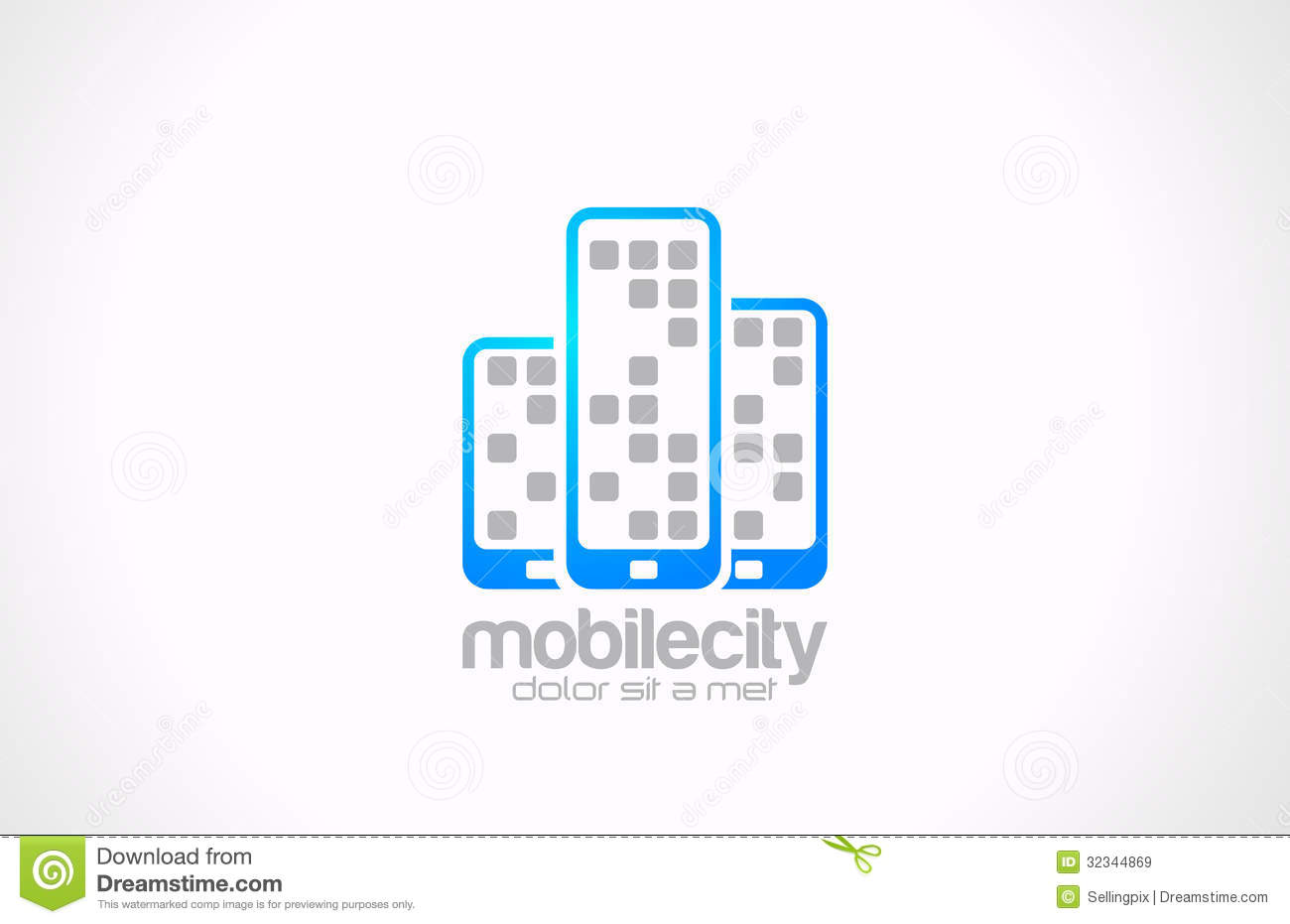 Mobile phones logo design mobile city business co stock for Mobel design