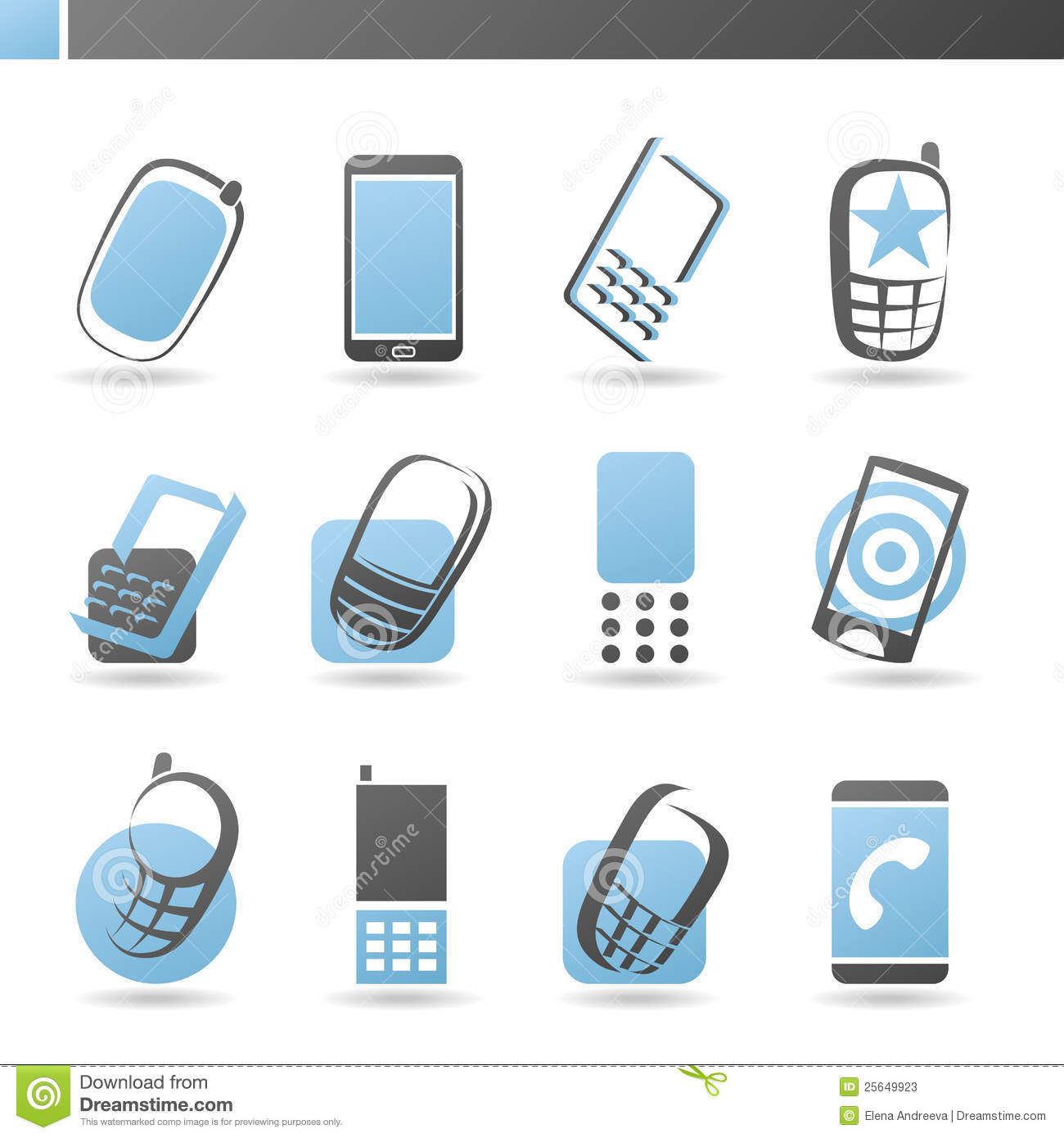 Mobile Phones. Vector Logo Template Set. Stock Photos ...