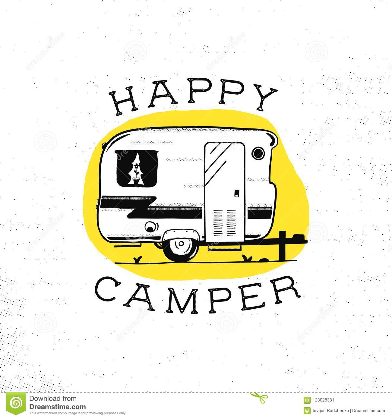 Mobile Recreation. Happy Camper Trailer In Sketch Silhouette ... on mobile home fabric, mobile home coach, mobile home movers, mobile home paradise, mobile home white background, mobile home light, mobile home composition, mobile home photography, mobile home christmas, mobile home texture, mobile home landscape, mobile home outline, mobile home vintage, mobile home color, mobile home nova, mobile home redneck, mobile home people, mobile home clipart, mobile home graphics, mobile home size,