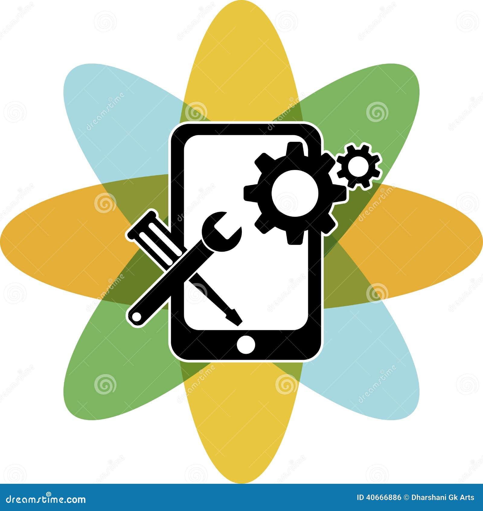 mobile repair logo stock illustration illustration of