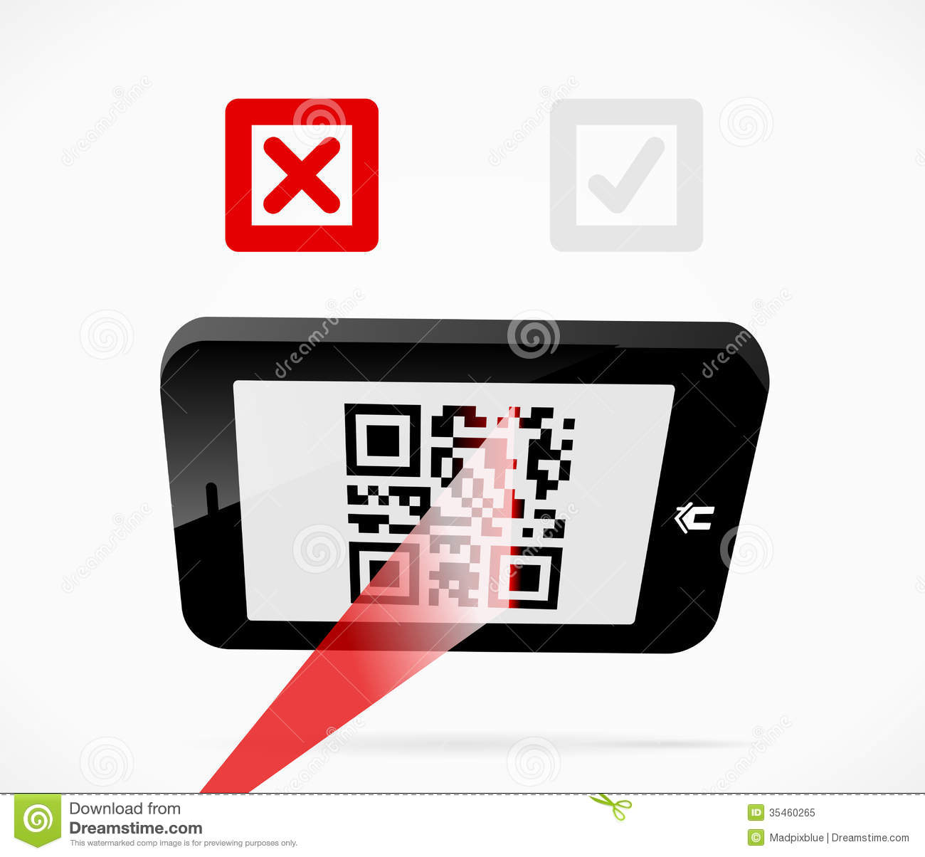 Mobile Scan Royalty Free Stock Photo - Image: 35460265