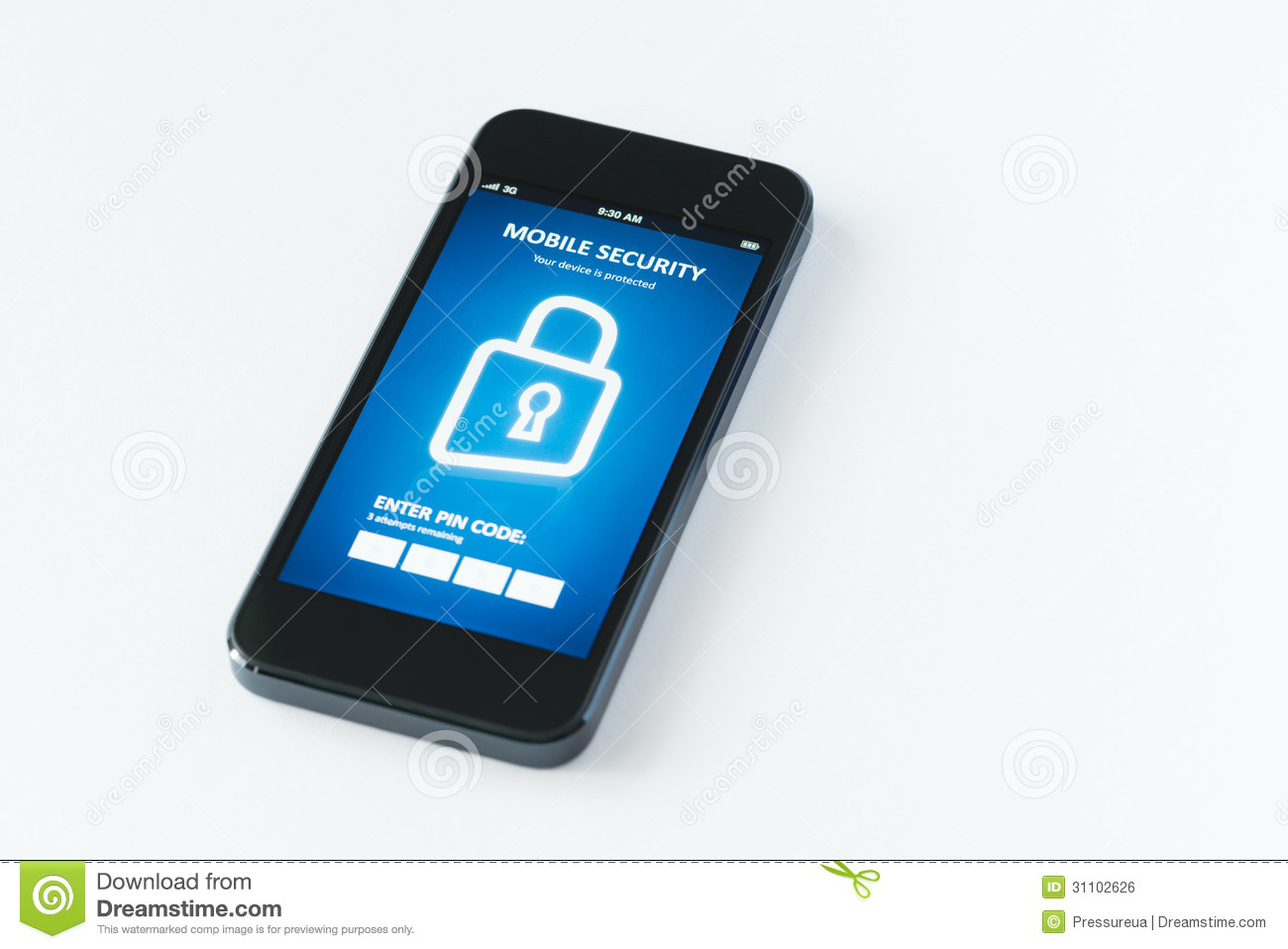 Mobile Security App Royalty Free Stock Image Image 31102626