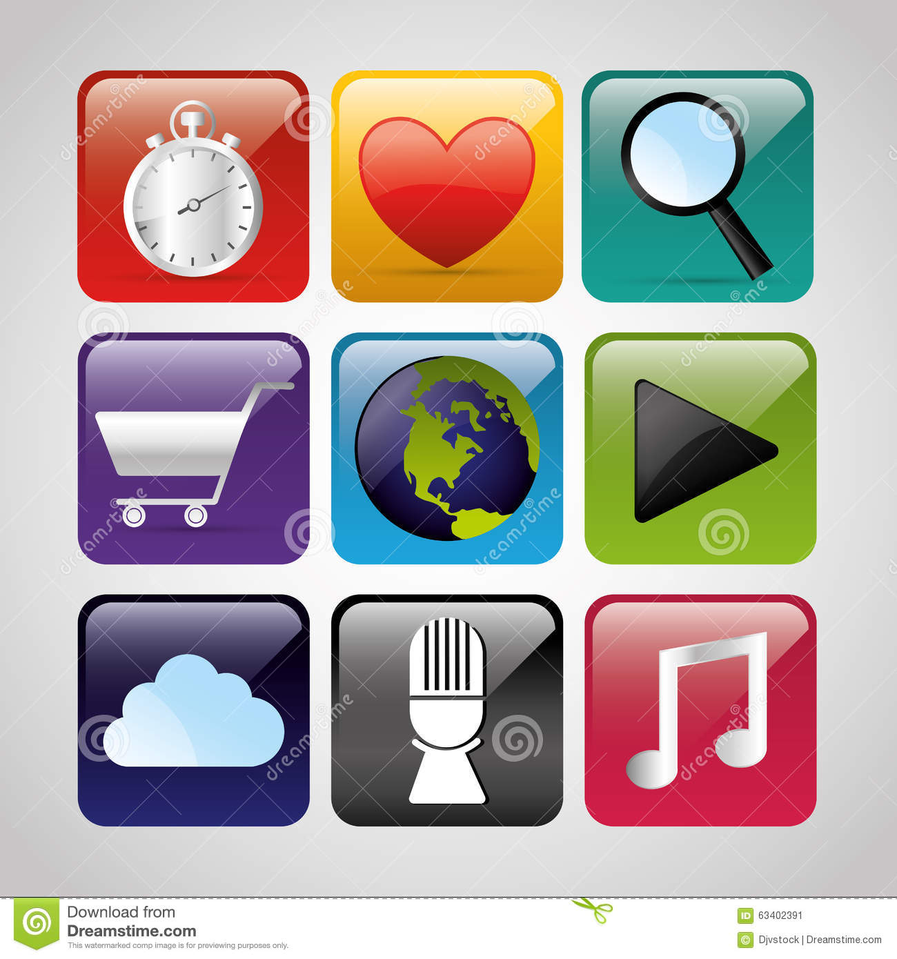 Mobile Technology Applications Stock Vector Image 63402391