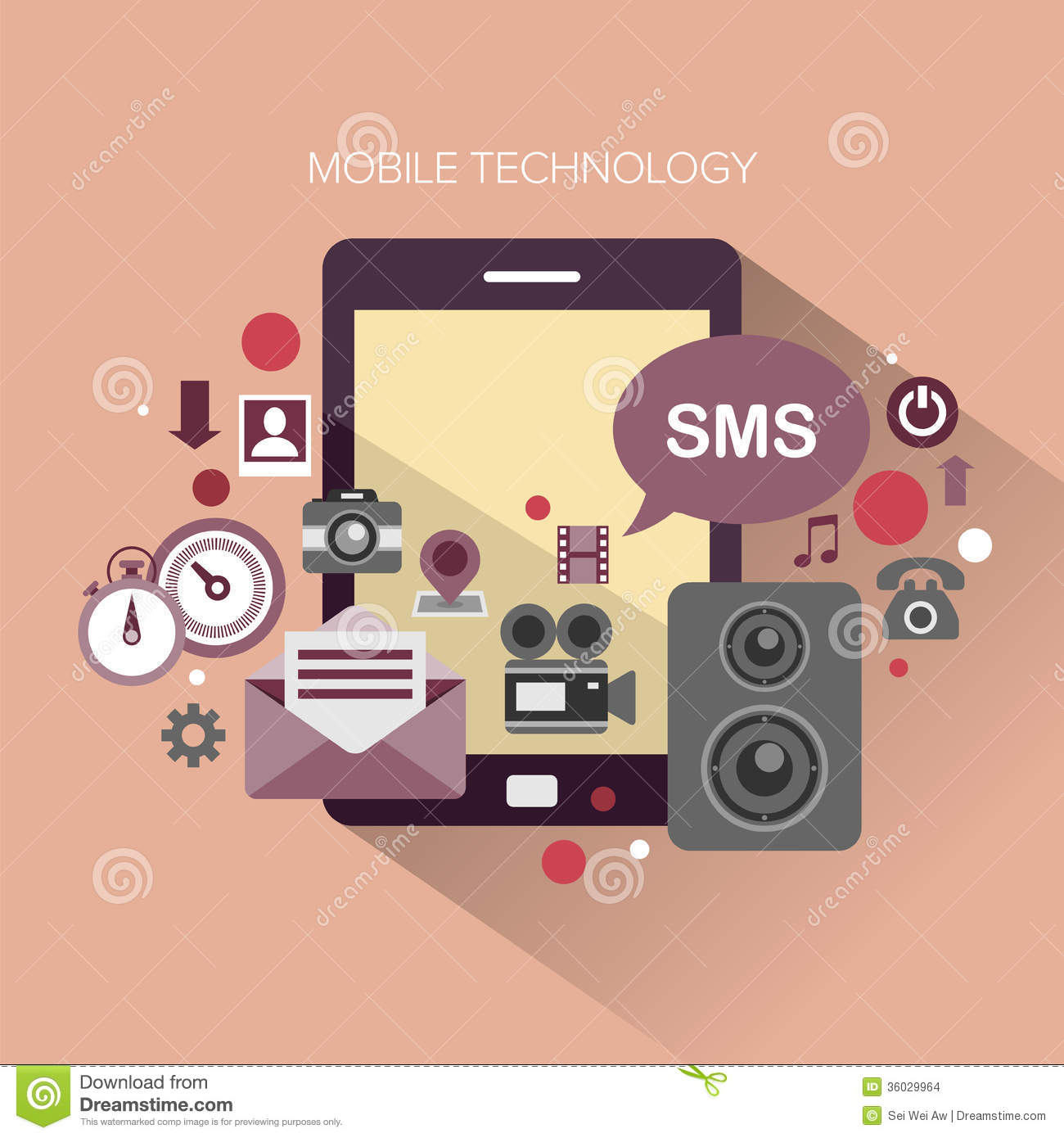 Mobile Technology: Mobile Technology Stock Vector. Illustration Of Interface