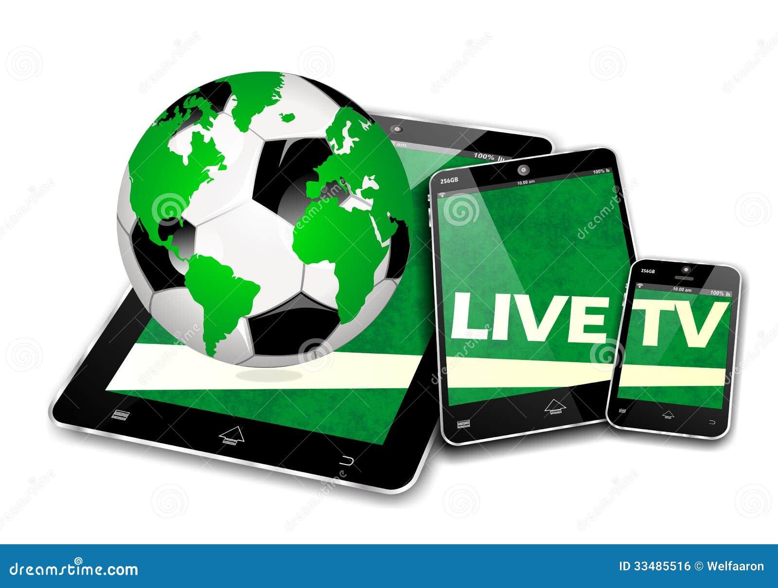 MOBILE SOCCER DEVICES, LIVE TV INTERNET BROADCAST.