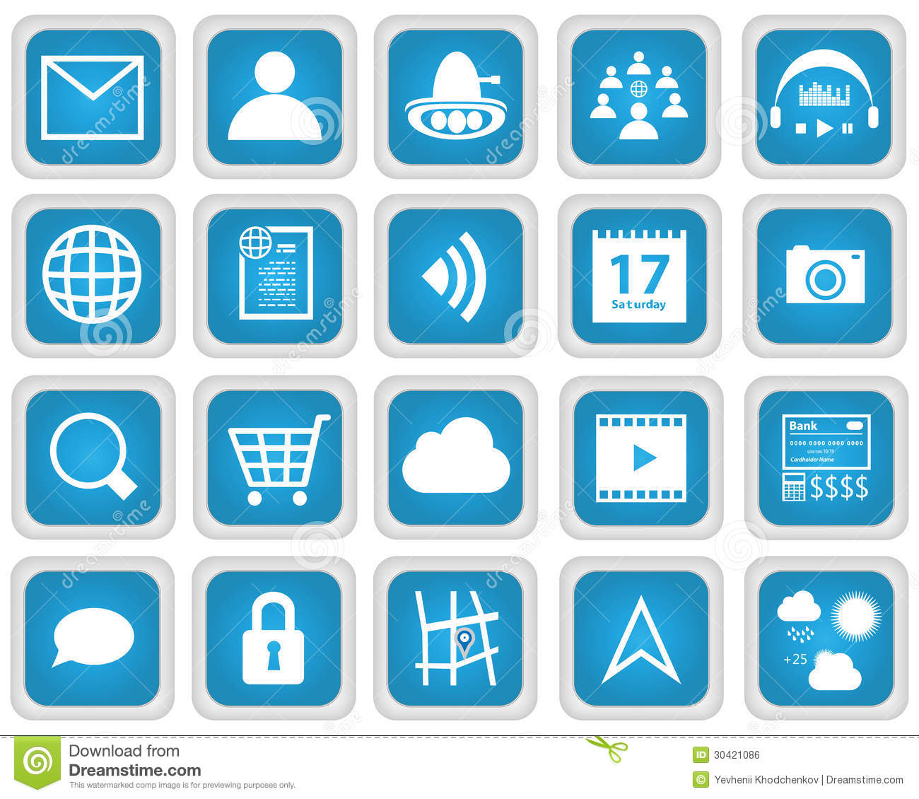 Mobile Web Services Icon Set Stock Vector - Illustration ...