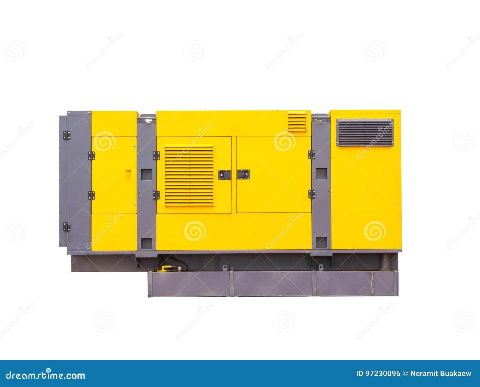 Mobiler Dieselgenerator Für Notelektrischen Strom Getrennt Auf ...