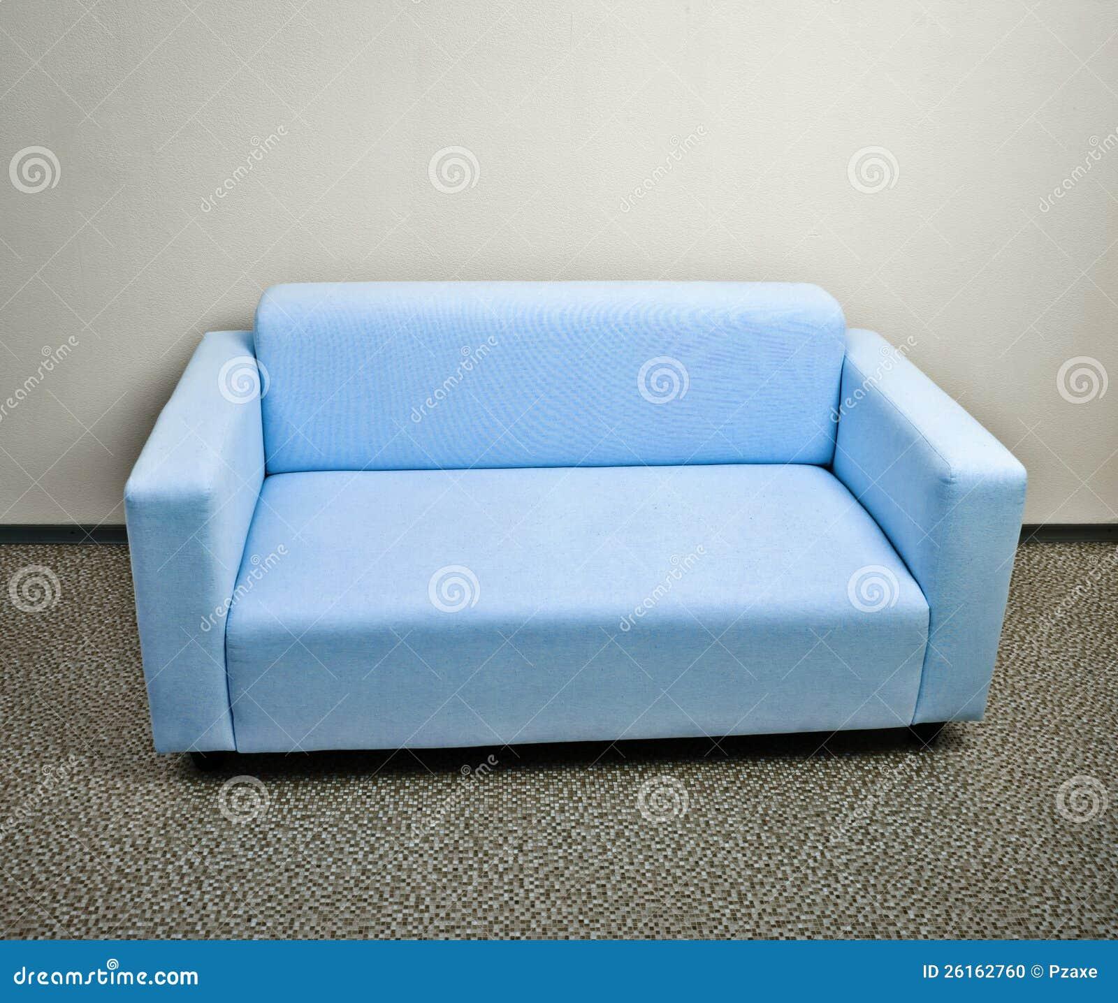 Mobilia blu del sofà